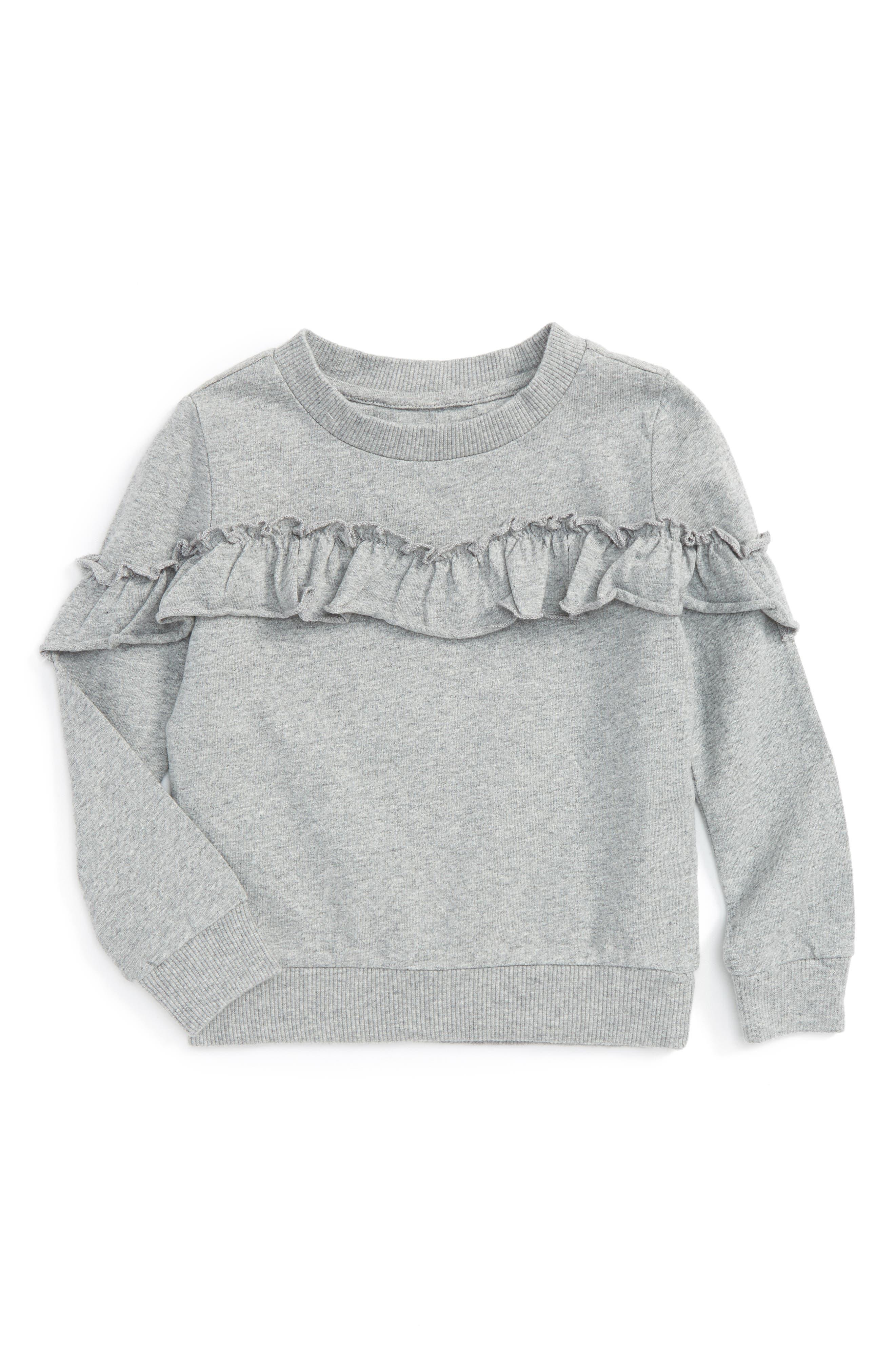 Ruffle Sweatshirt,                             Main thumbnail 1, color,
