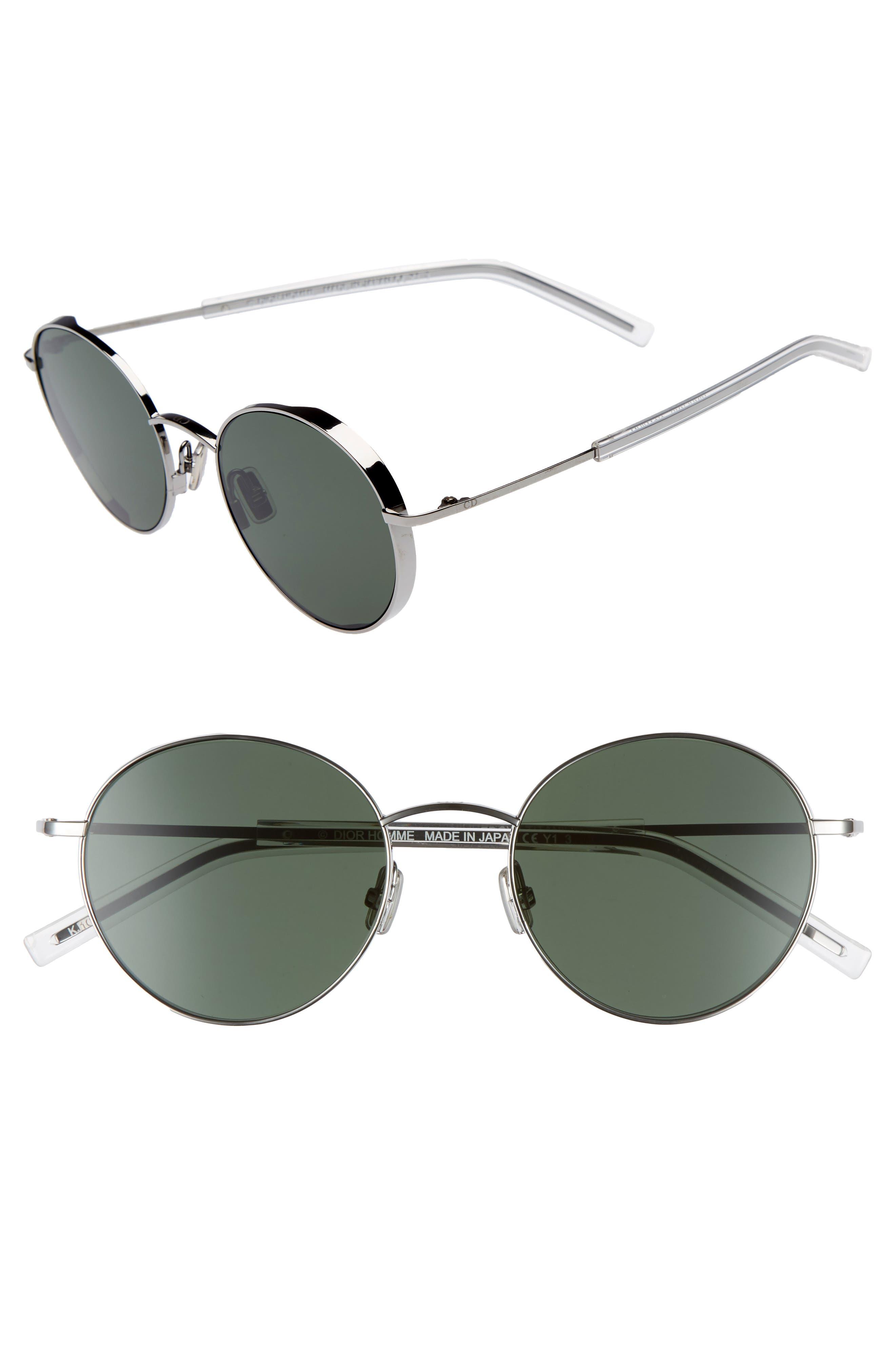 Edgy 52mm Sunglasses,                         Main,                         color, DARK RUTHENIUM