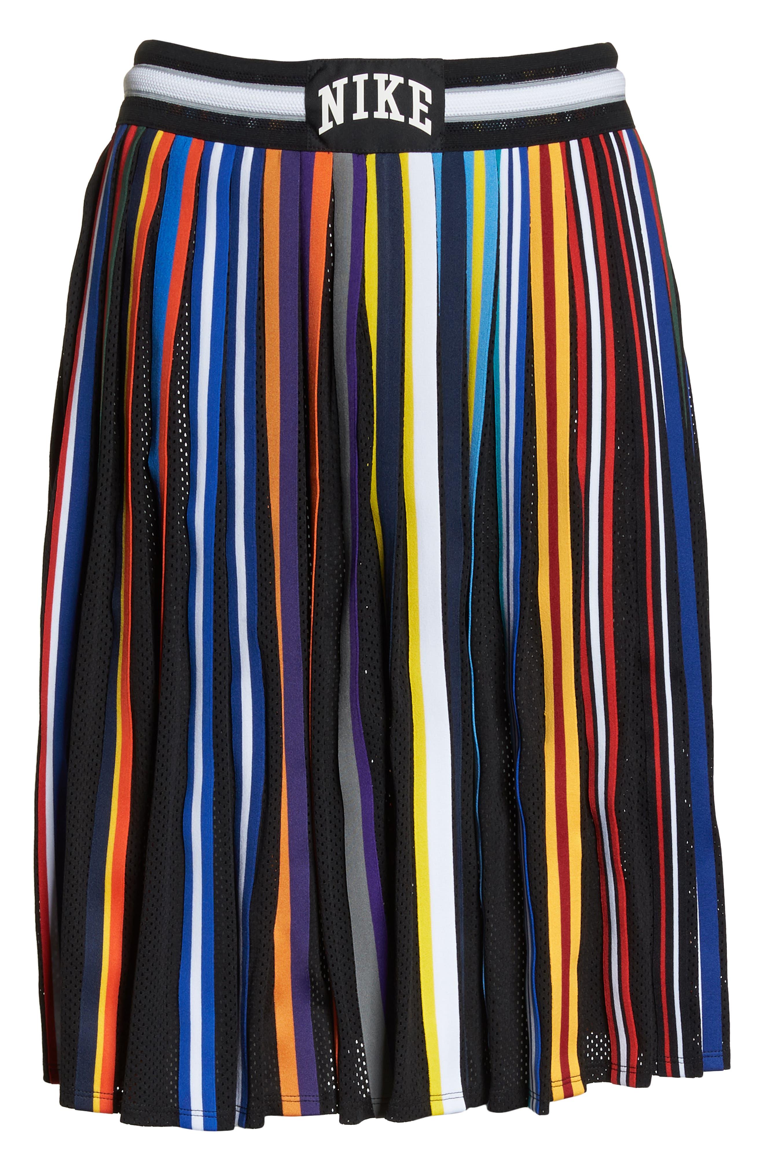 NikeLab Basketball Stripe Skirt,                             Alternate thumbnail 7, color,                             BLACK