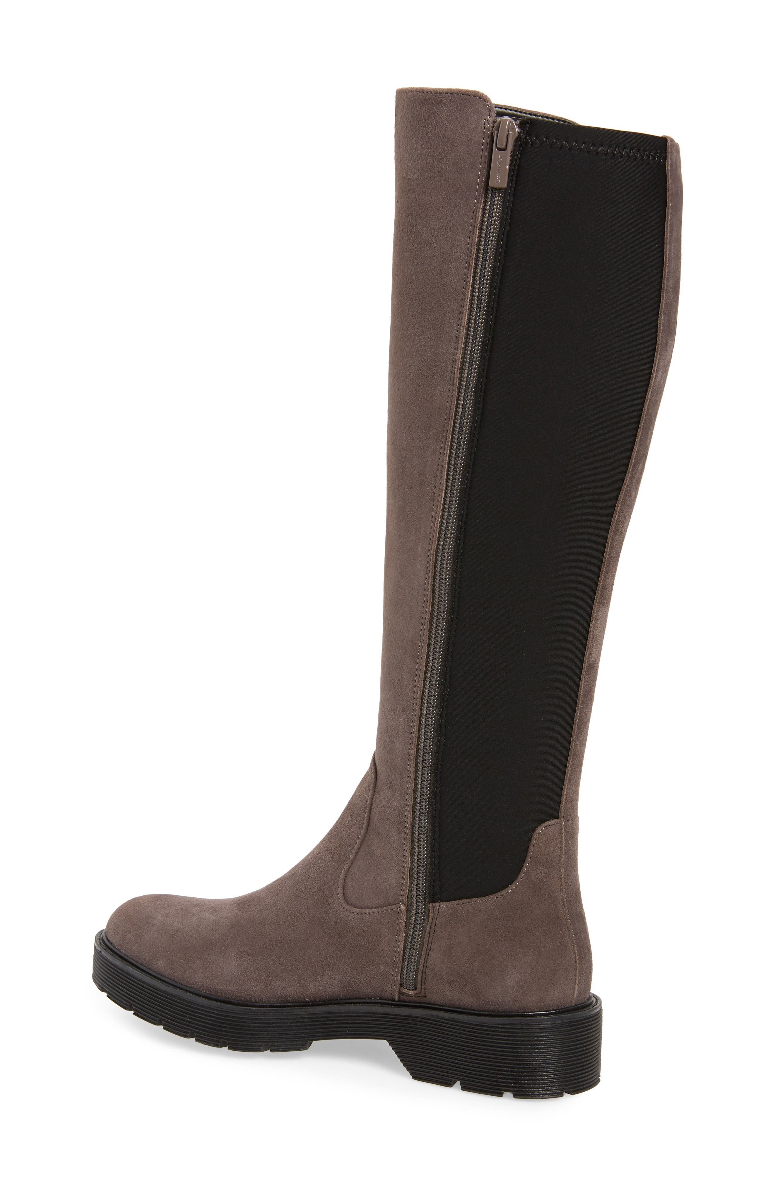 Themis Knee High Riding Boot,                             Alternate thumbnail 2, color,                             DARK UTILITY/ BLACK SUEDE