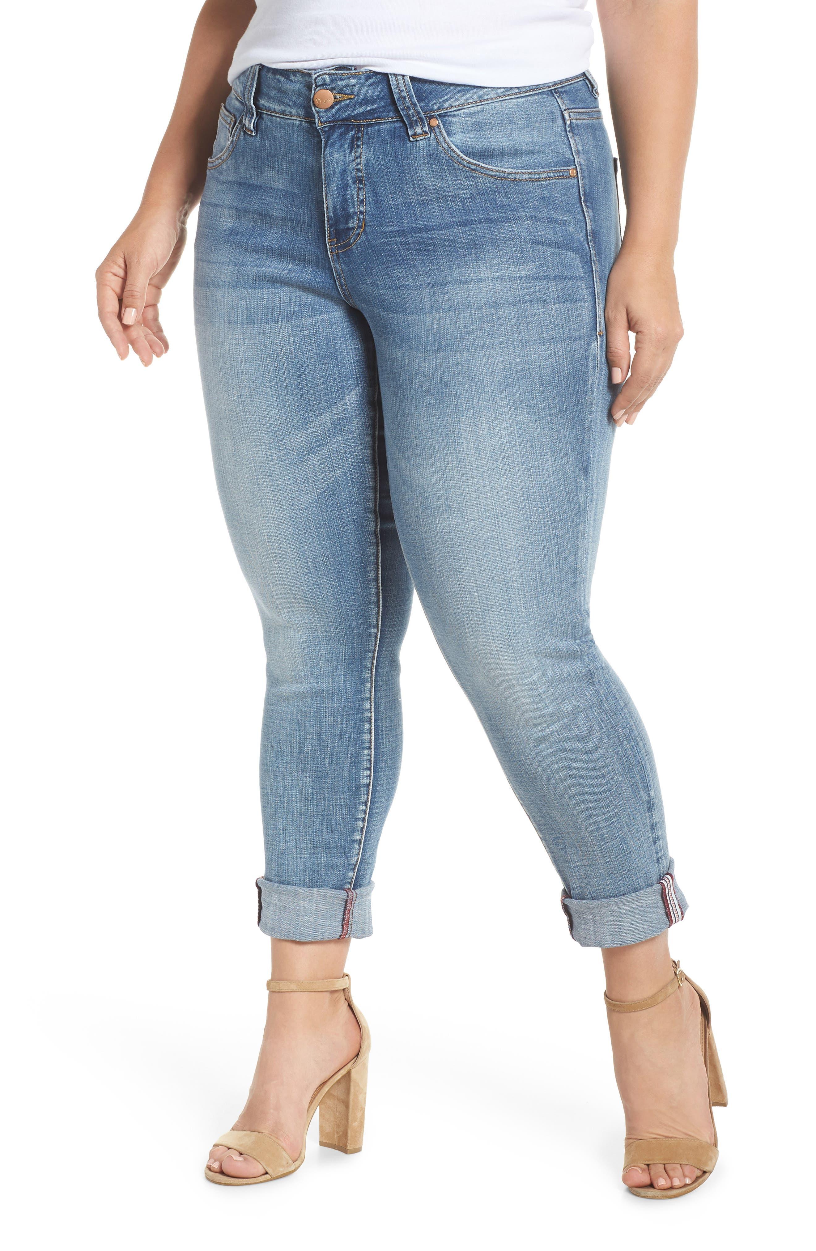 Carter Girlfriend Jeans,                         Main,                         color, MED INDIGO
