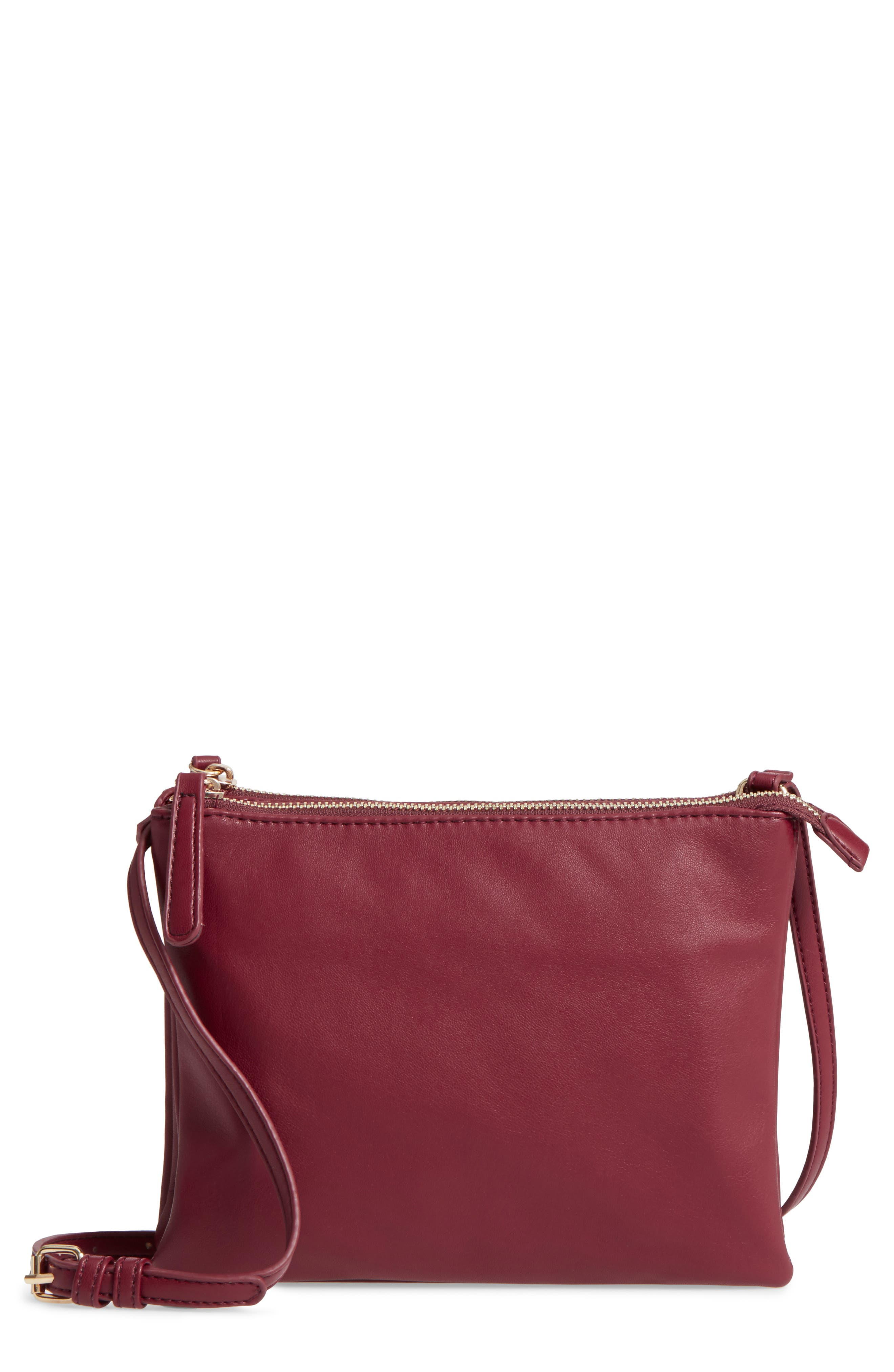 Madden Faux Leather Pouch Crossbody Bag,                             Main thumbnail 3, color,