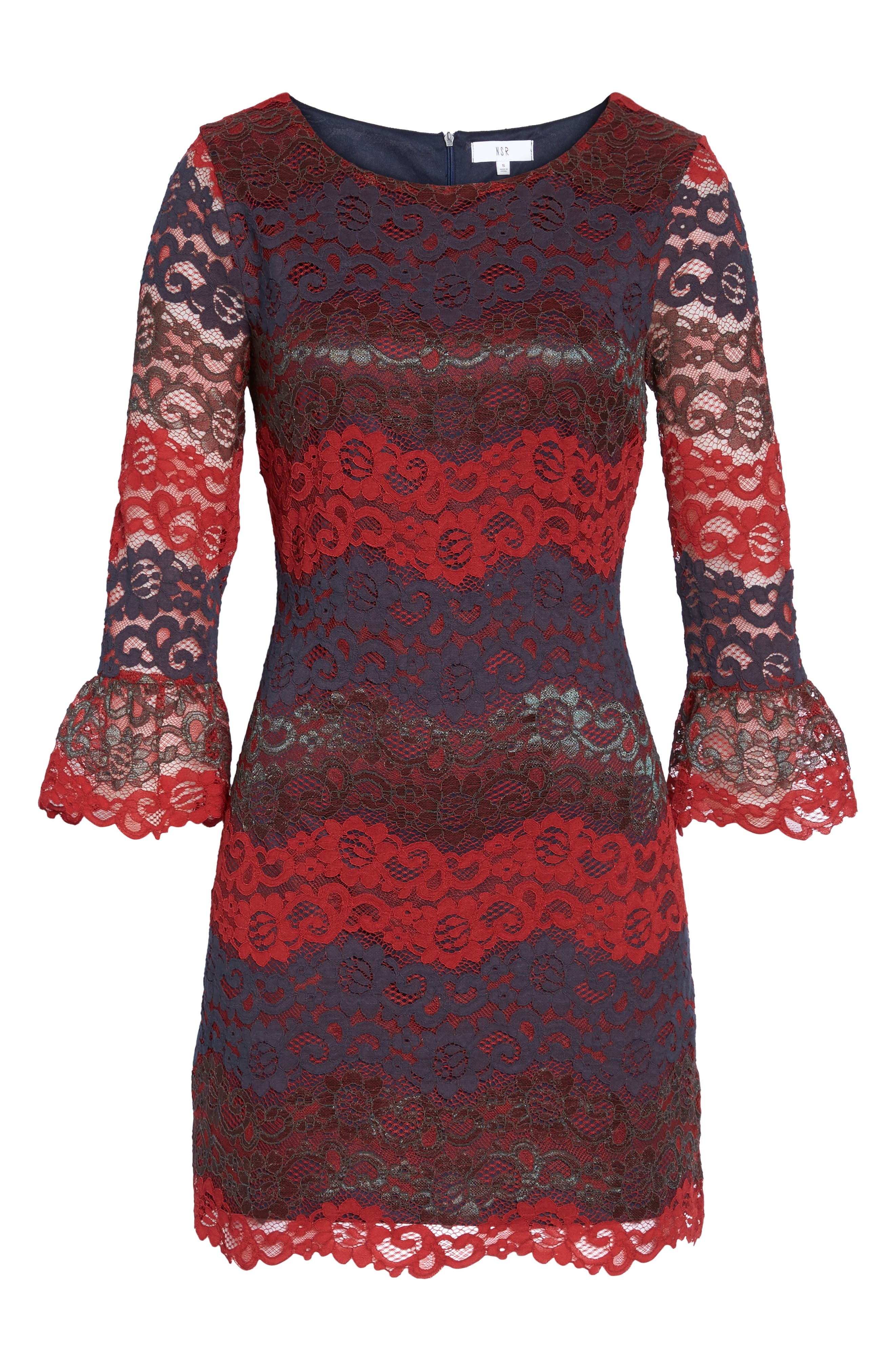 Lace Bell Sleeve Dress,                             Alternate thumbnail 23, color,