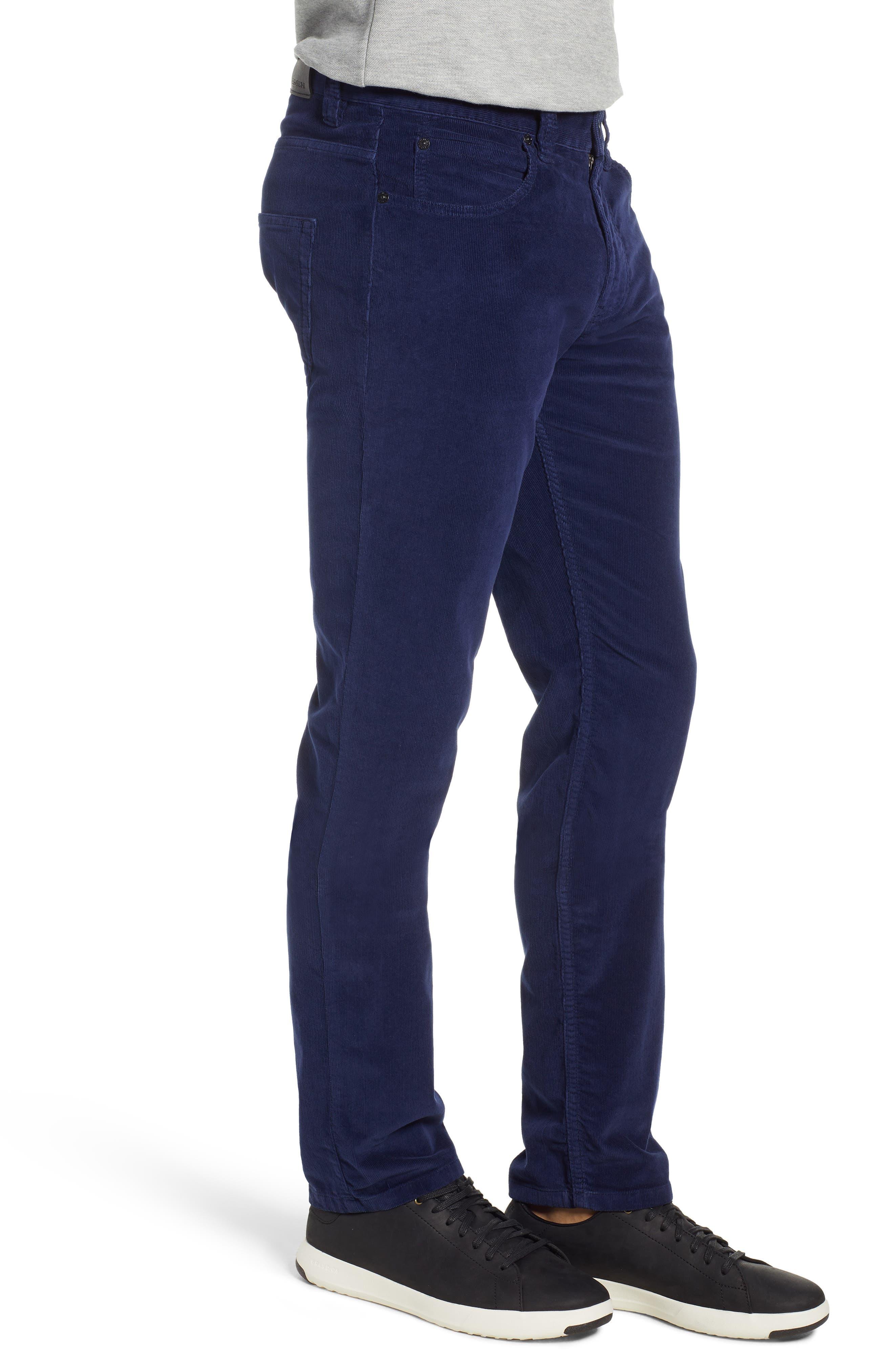 Slim Fit Corduroy Jeans,                             Alternate thumbnail 3, color,                             MIDNIGHT