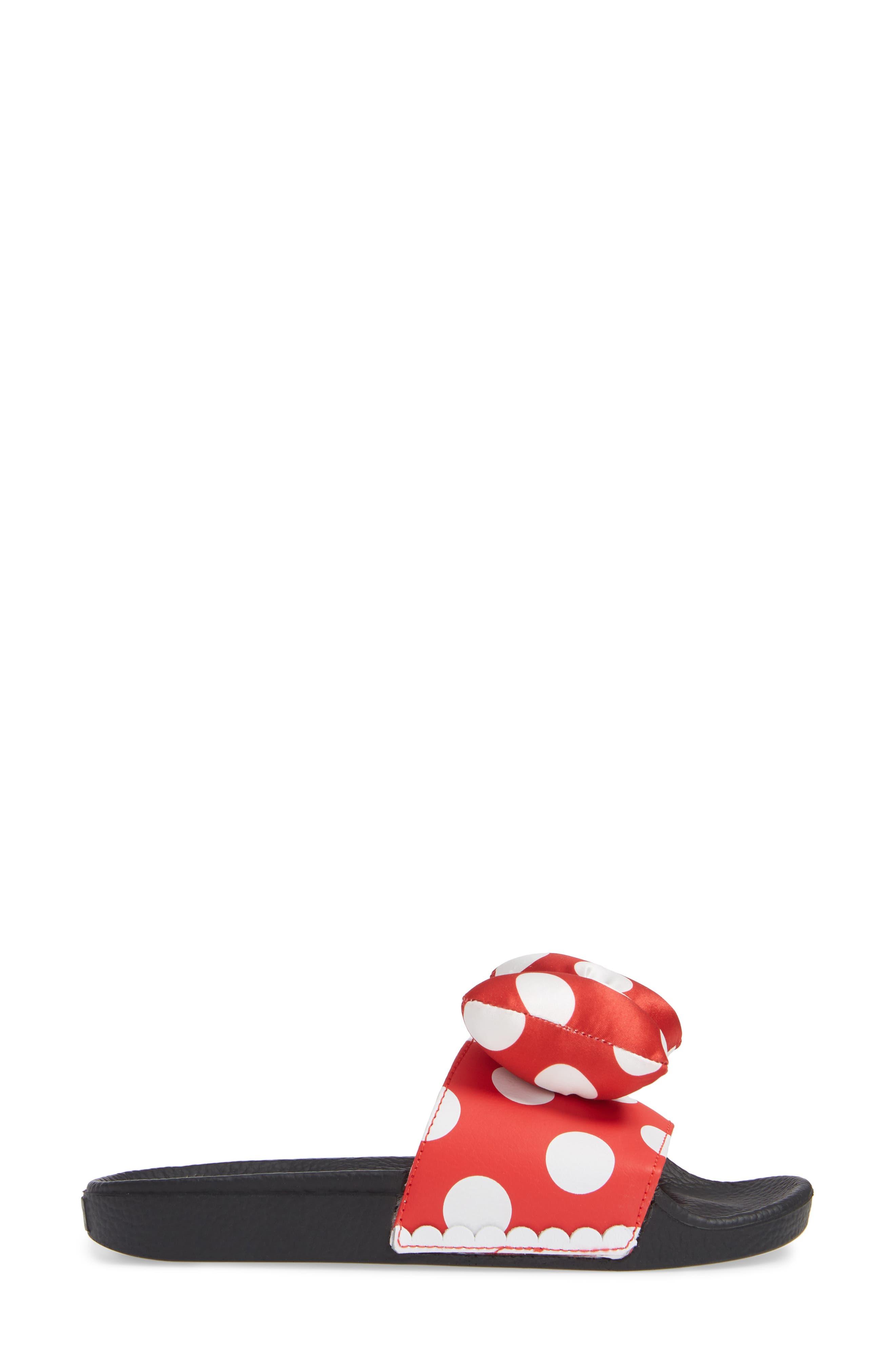 x Disney Minnie Mouse Slide Sandal,                             Alternate thumbnail 3, color,                             600
