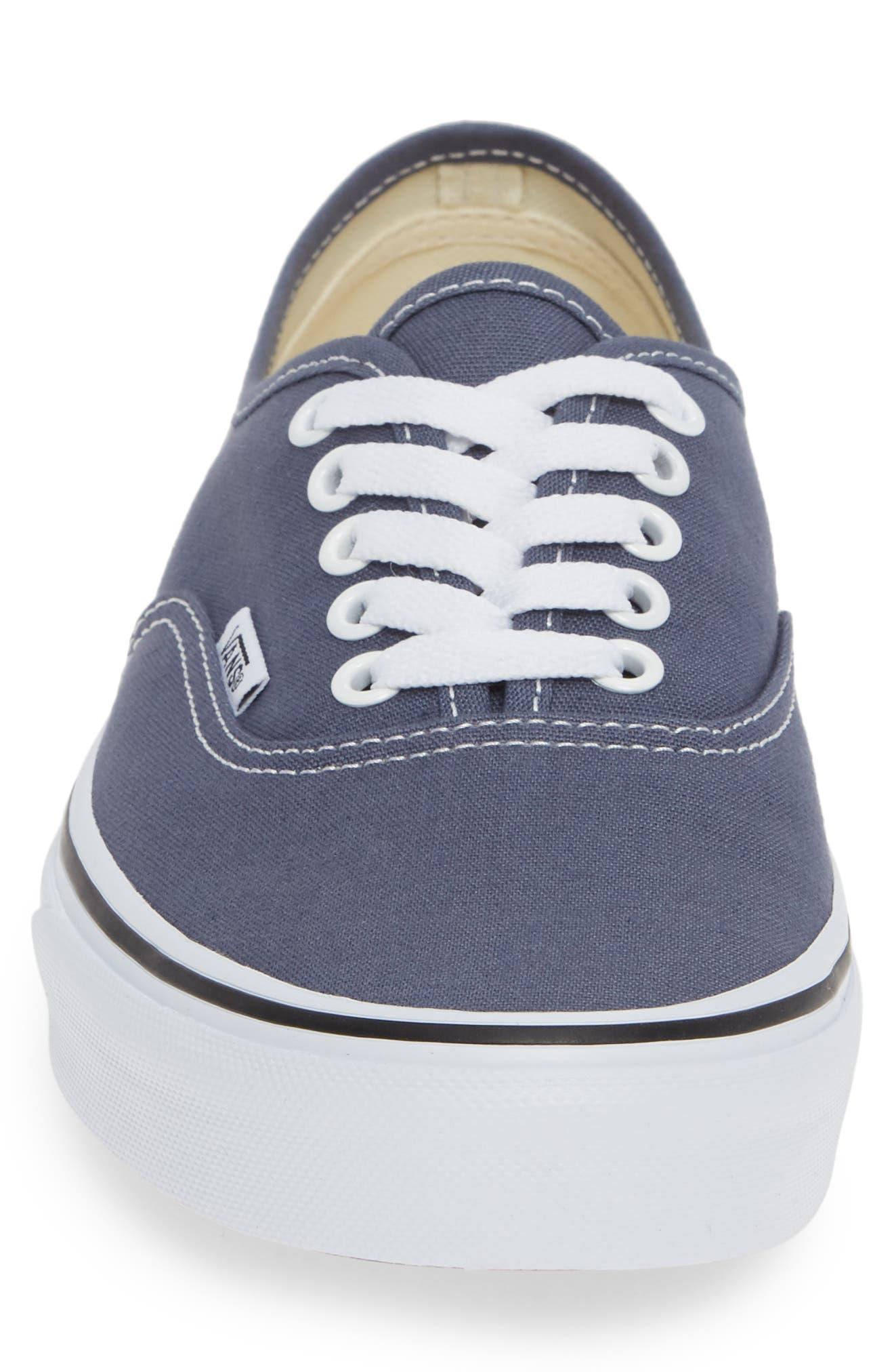 'Authentic' Sneaker,                             Alternate thumbnail 4, color,                             GREY/ TRUE WHITE