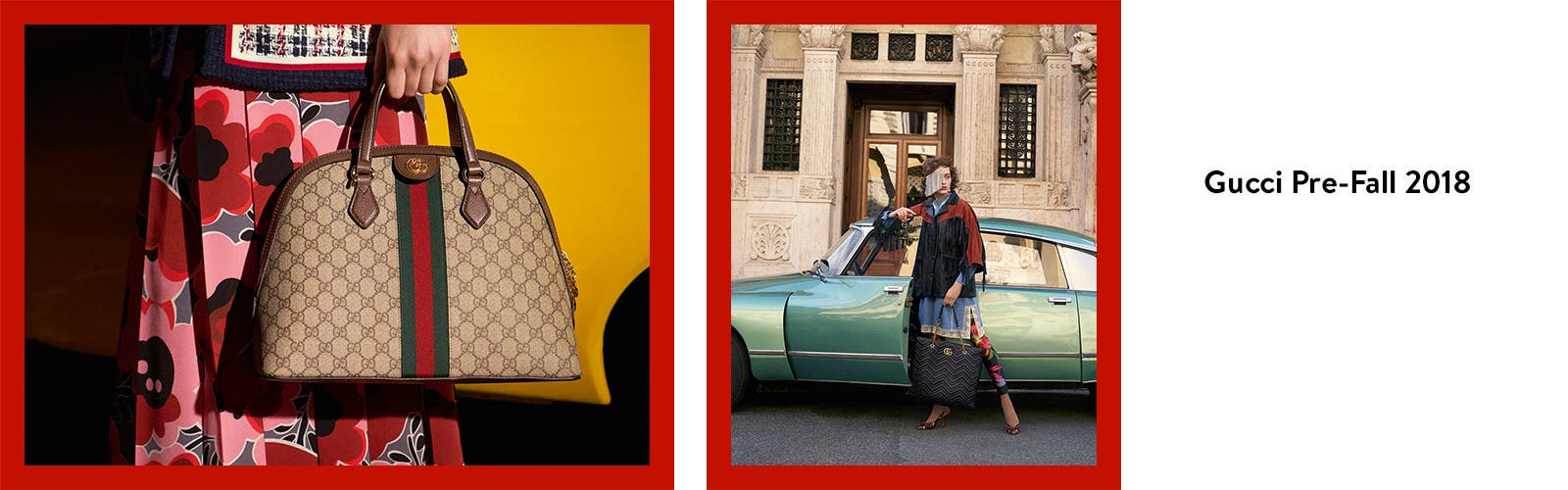 Gucci pre-fall 2018 handbags for women.
