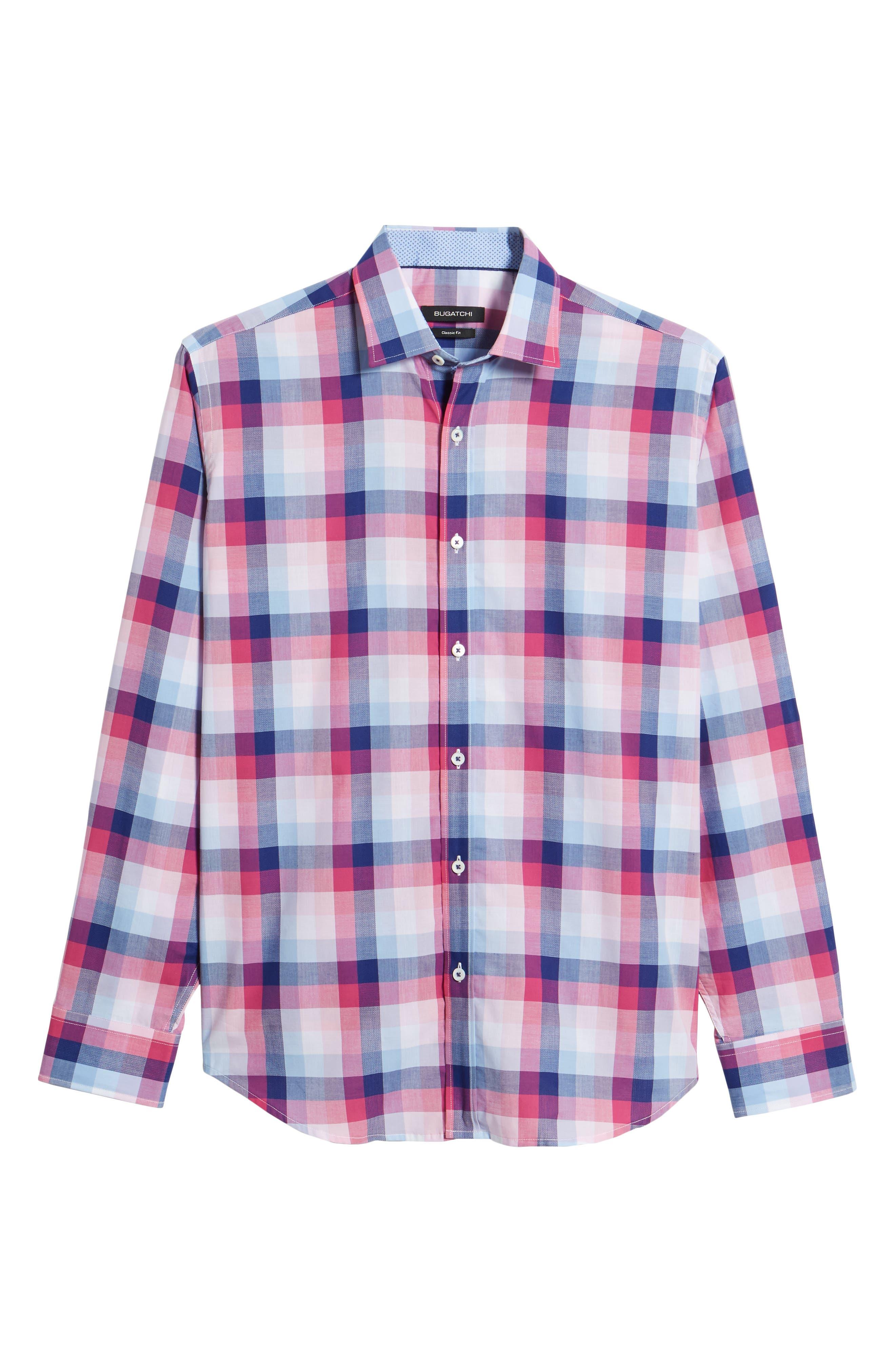 Classic Fit Woven Sport Shirt,                             Alternate thumbnail 6, color,                             660
