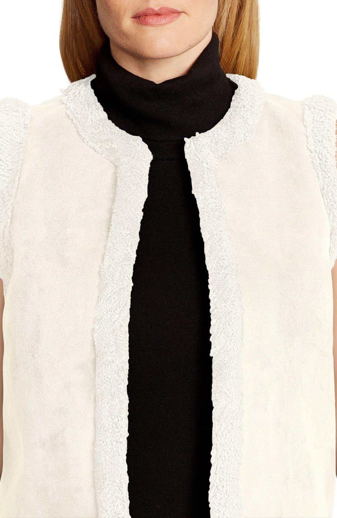 Faux Shearling Vest,                             Alternate thumbnail 3, color,                             250