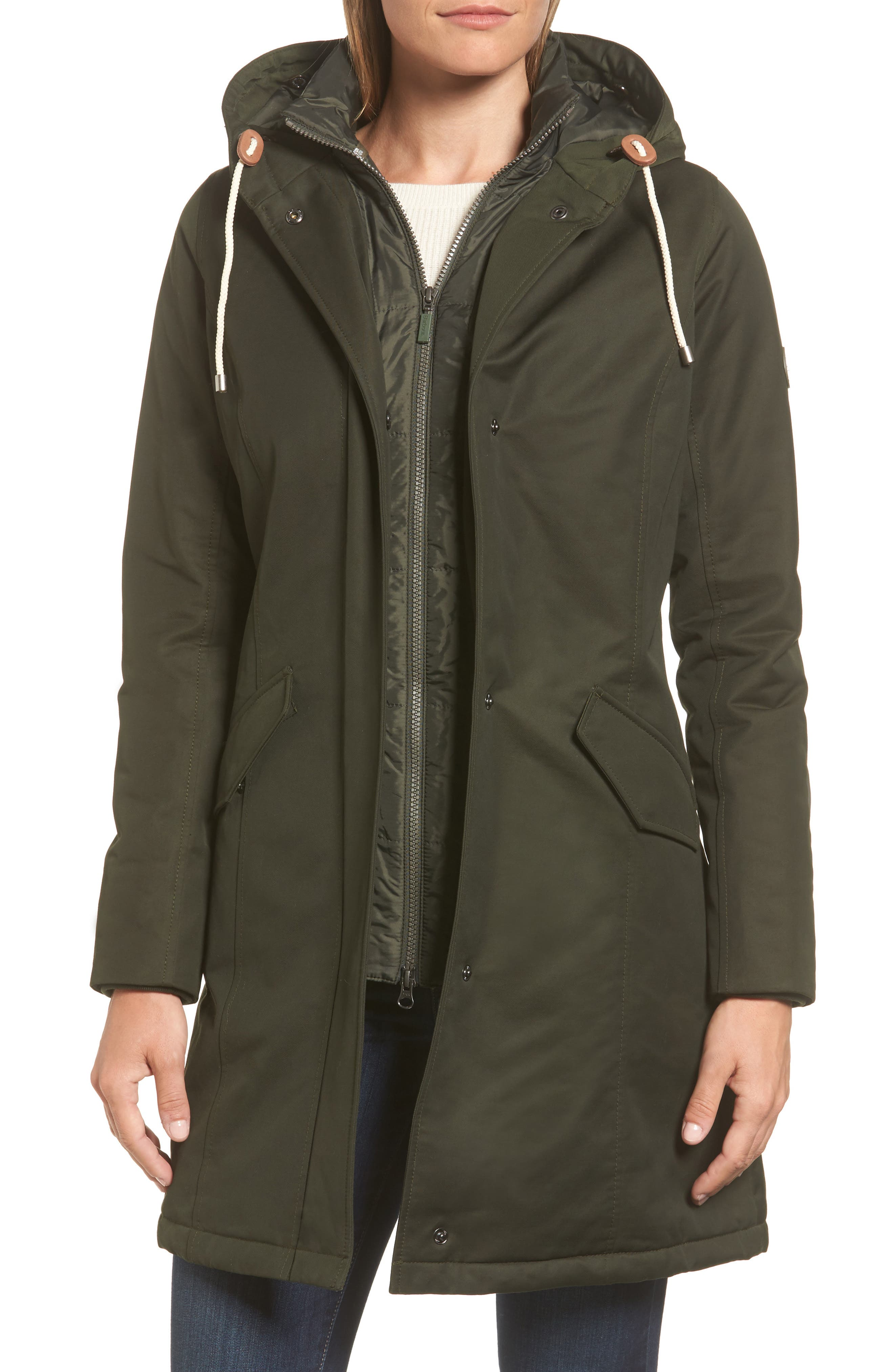 Filey Waterproof Hooded Jacket with Faux Fur Trim,                             Alternate thumbnail 4, color,                             302