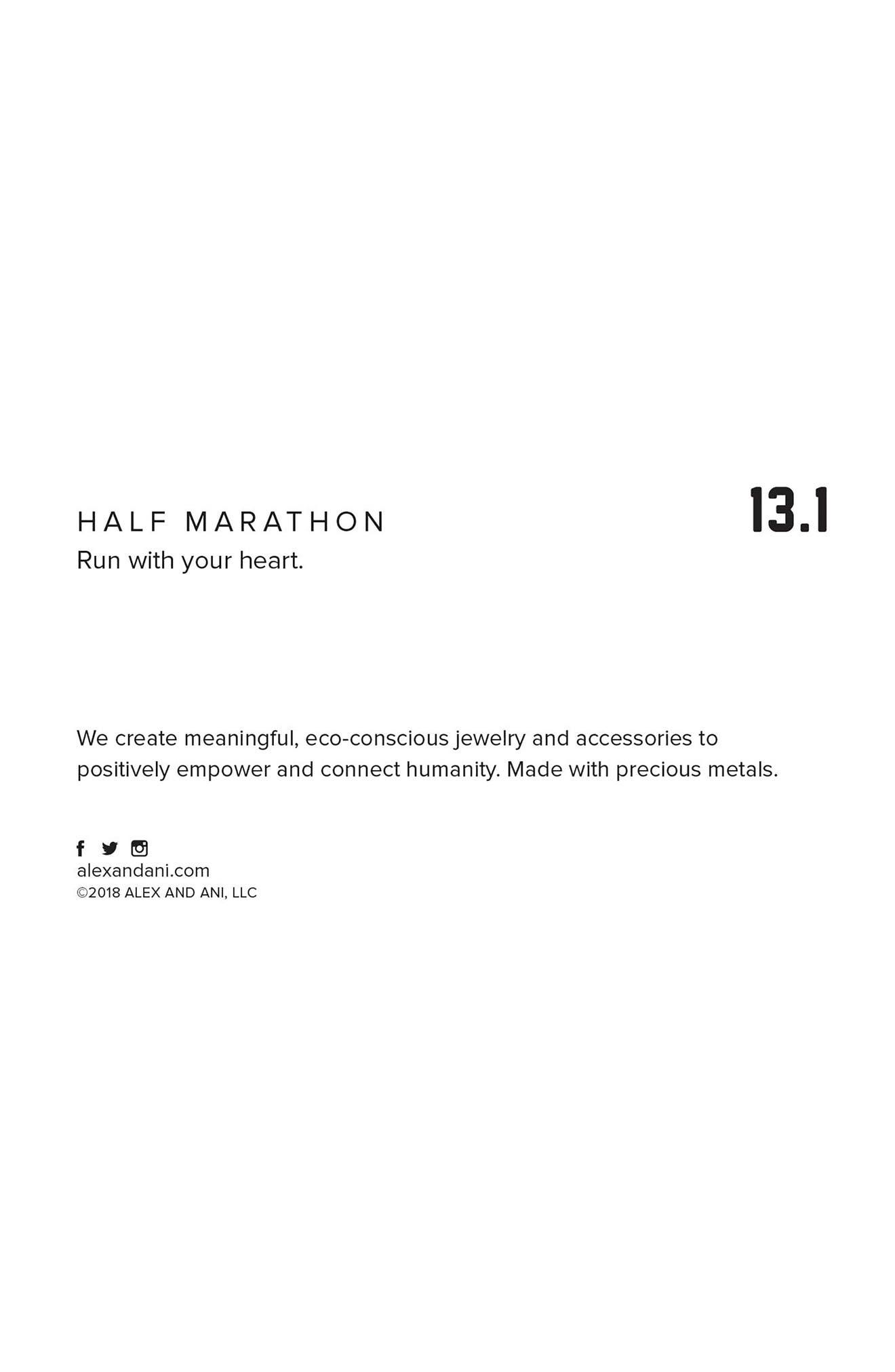Kindred Cord Half Marathon 13.1 Bangle,                             Alternate thumbnail 2, color,                             SILVER