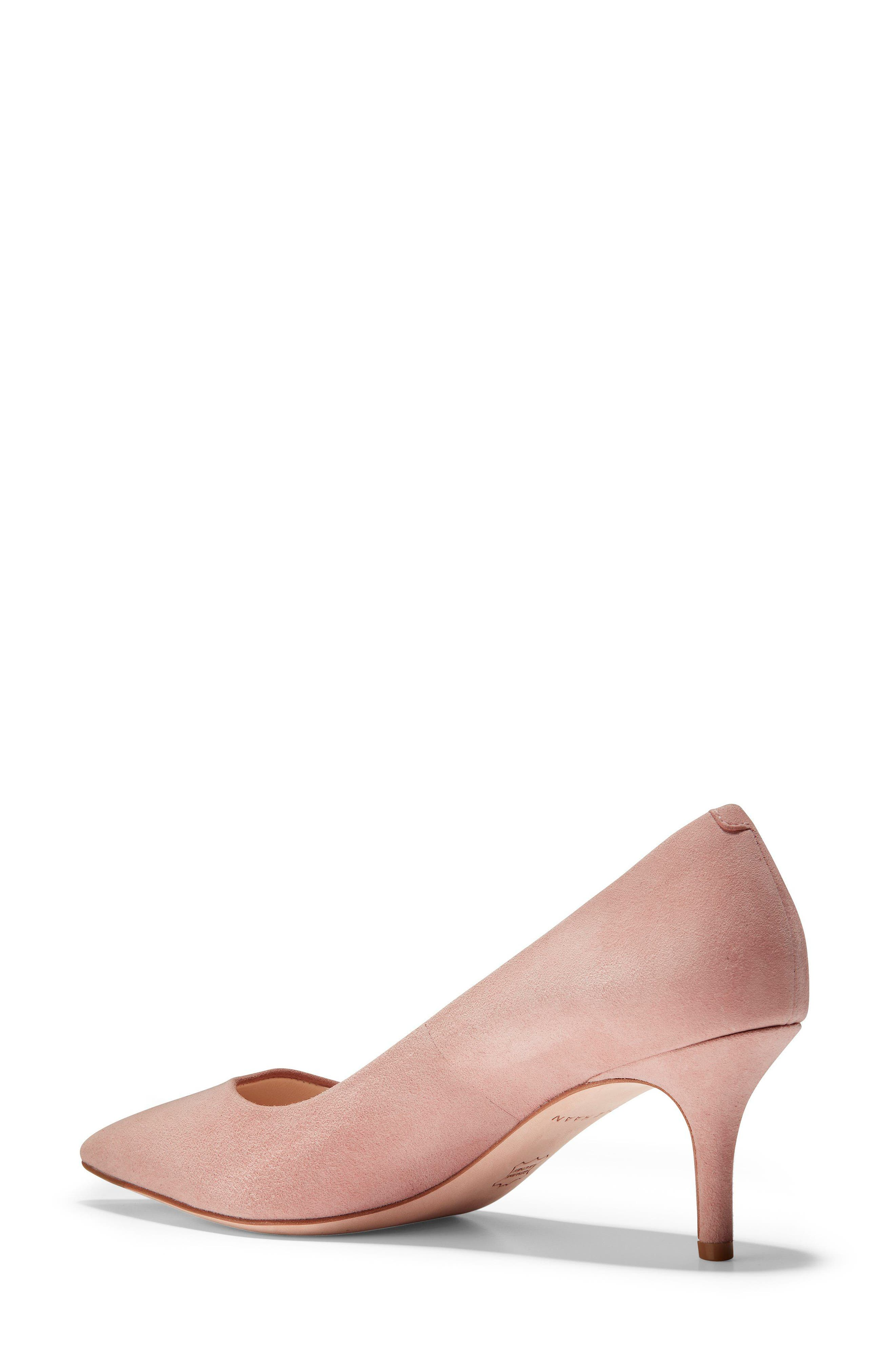 Vesta Pointy Toe Pump,                             Alternate thumbnail 2, color,                             SILVER PINK SUEDE