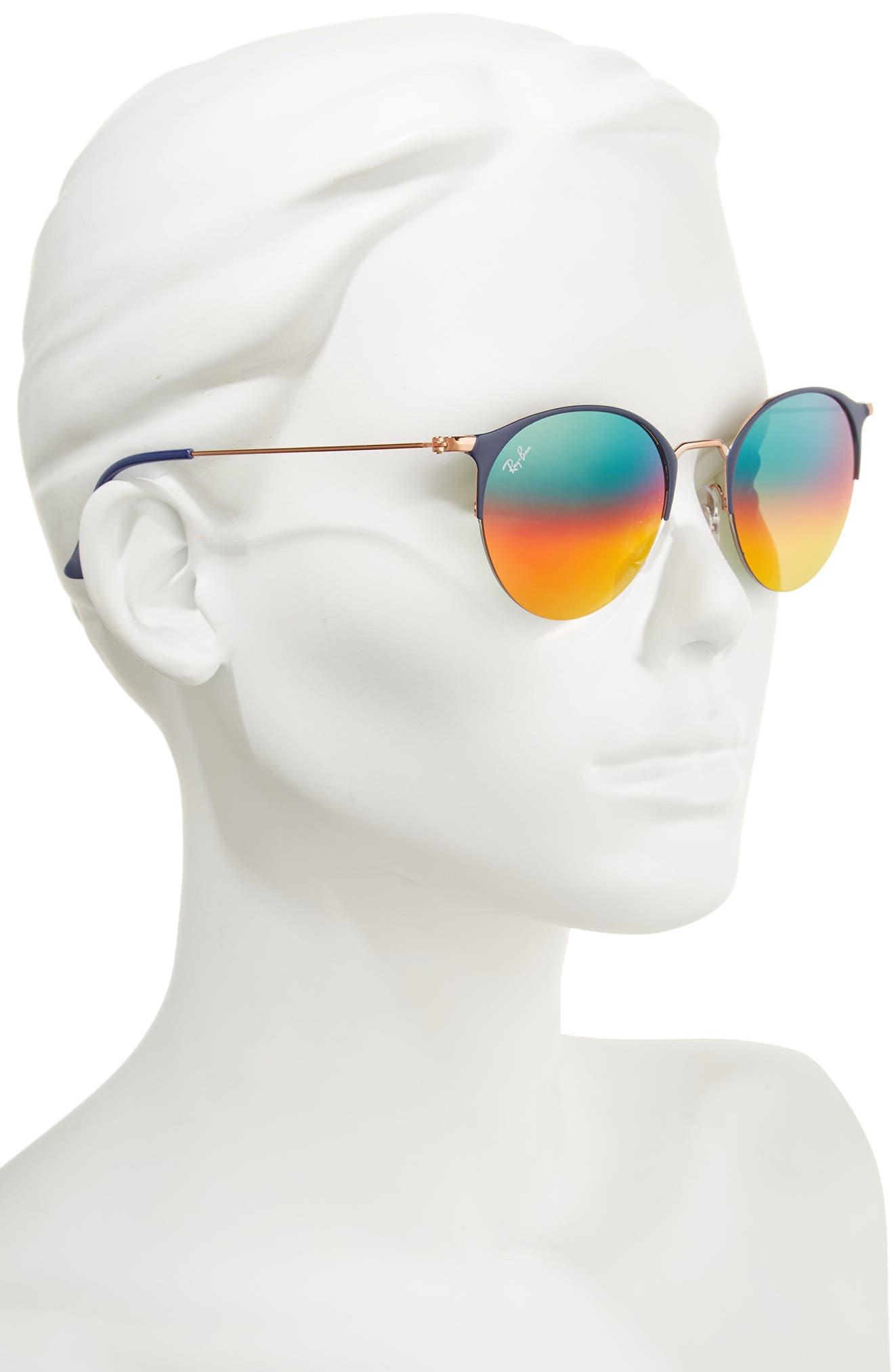 50mm Gradient Mirrored Sunglasses,                             Alternate thumbnail 4, color,