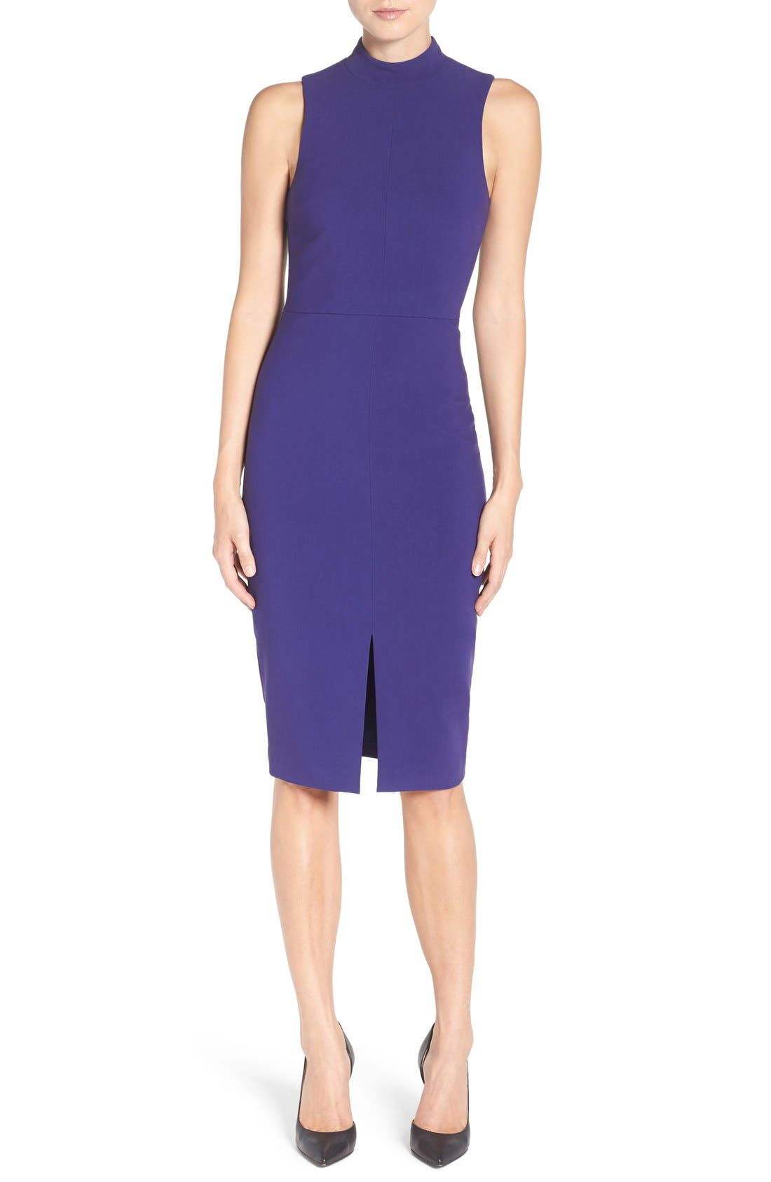 'Caldwell' Mock Neck Sheath Dress,                             Main thumbnail 1, color,                             533