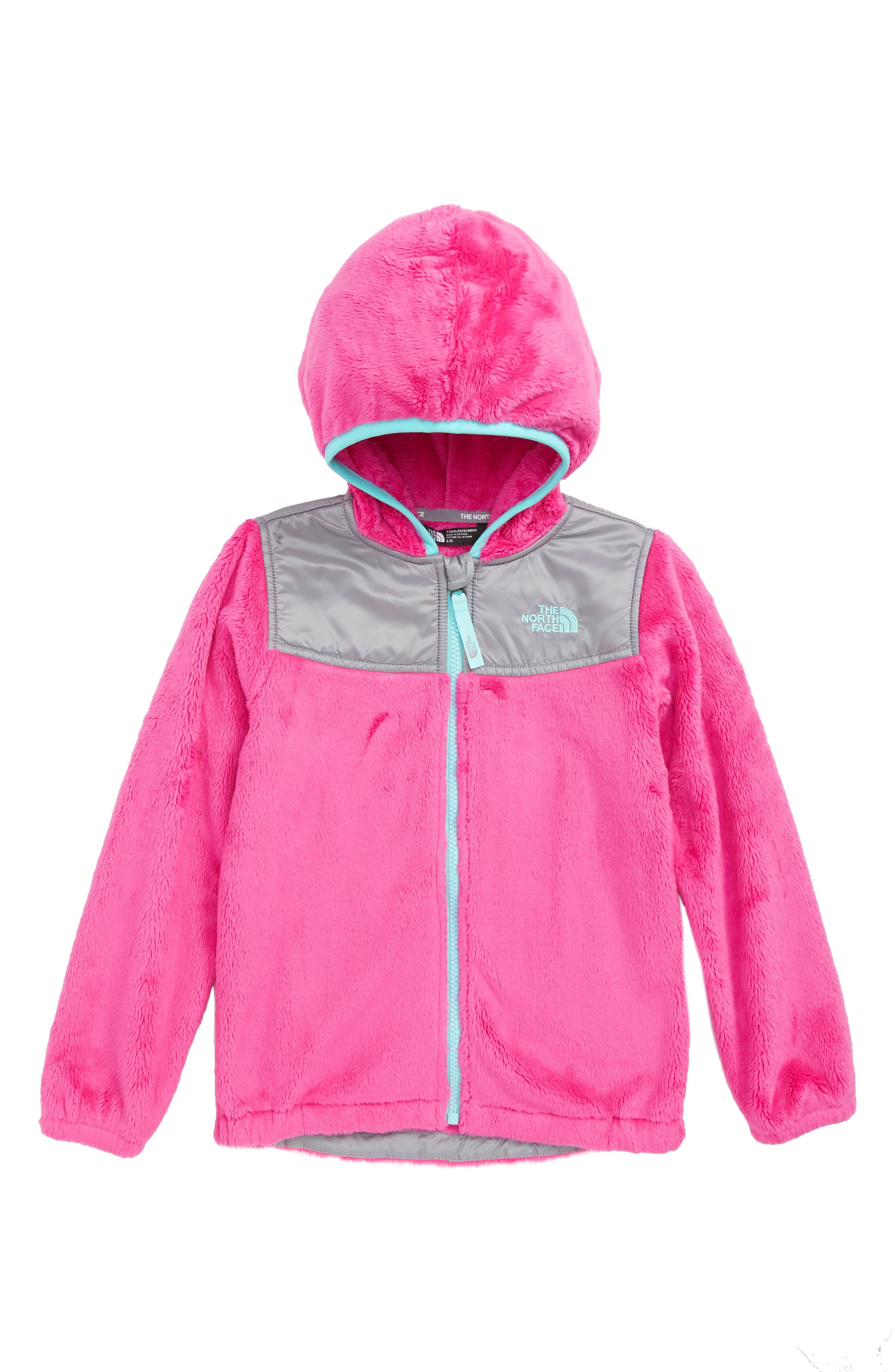 OSO Fleece Full-Zip Hoodie,                         Main,                         color, AZALEA PINK