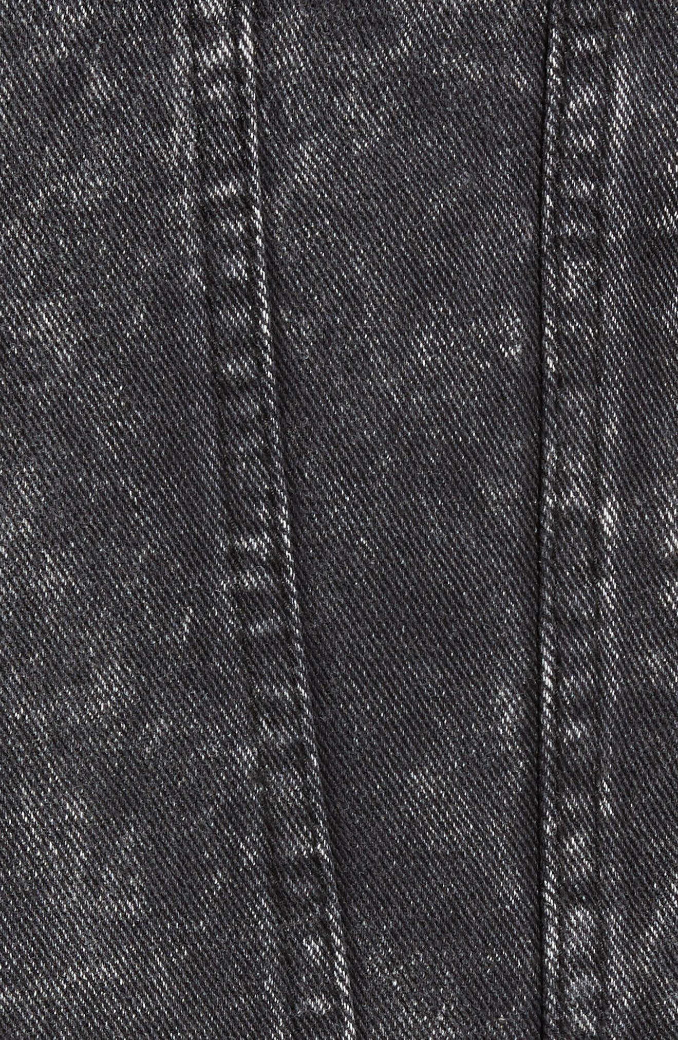 Billy Joel At the Garden Denim Jacket,                             Alternate thumbnail 6, color,                             BLACK ACID