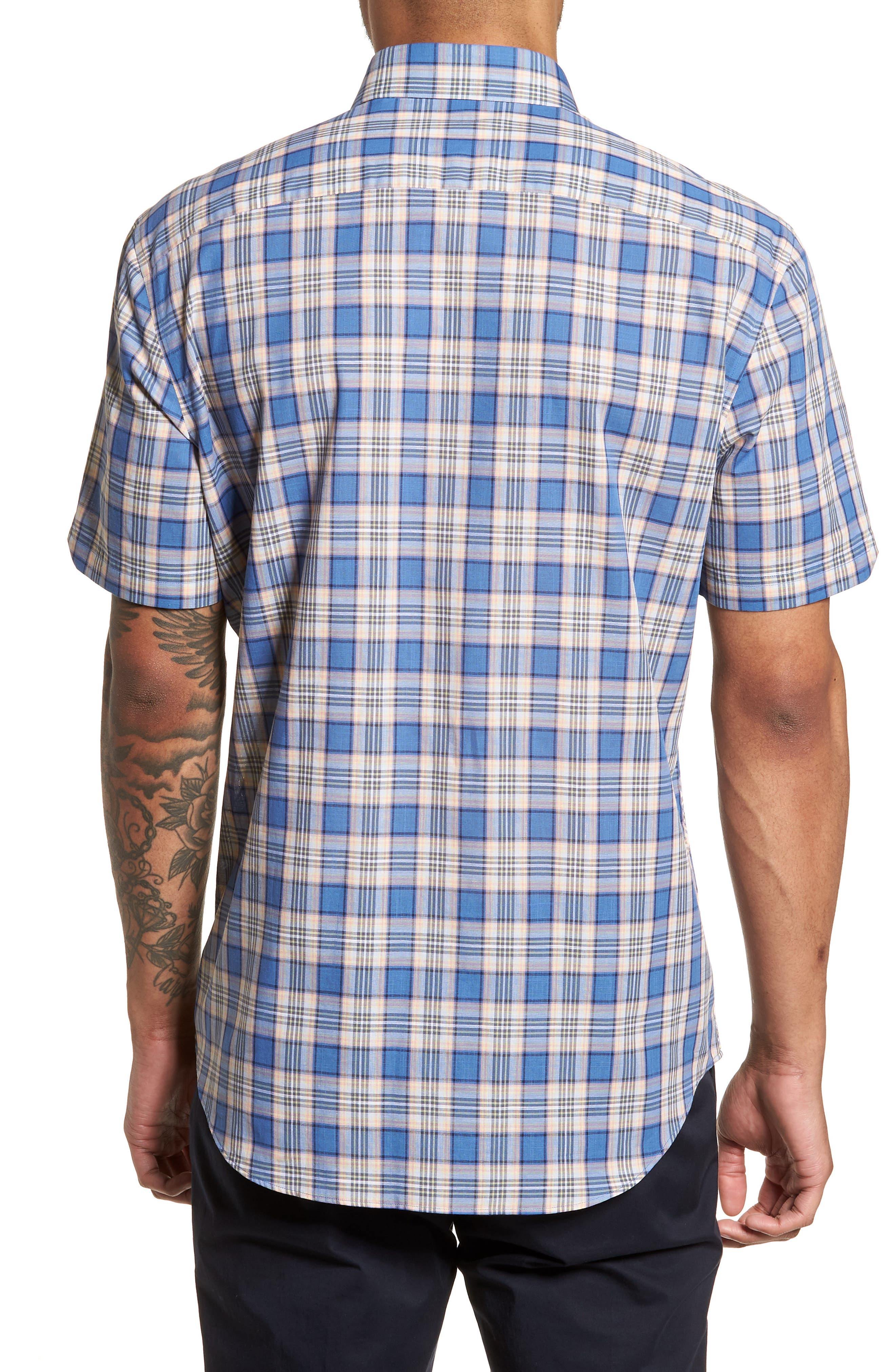 Carter Plaid Sport Shirt,                             Alternate thumbnail 2, color,                             400