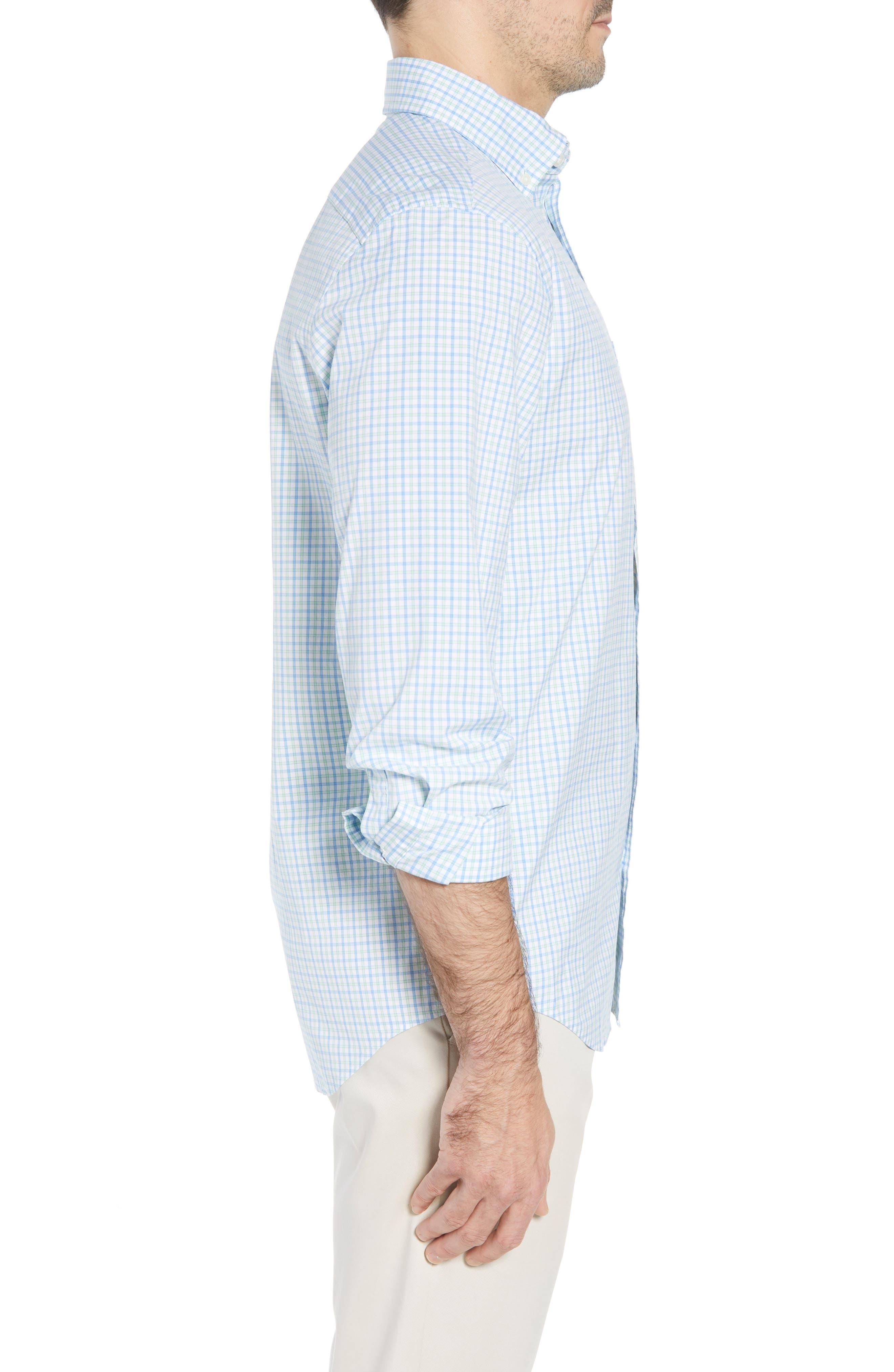 Clark Cove Tucker Classic Fit Check Sport Shirt,                             Alternate thumbnail 3, color,                             305