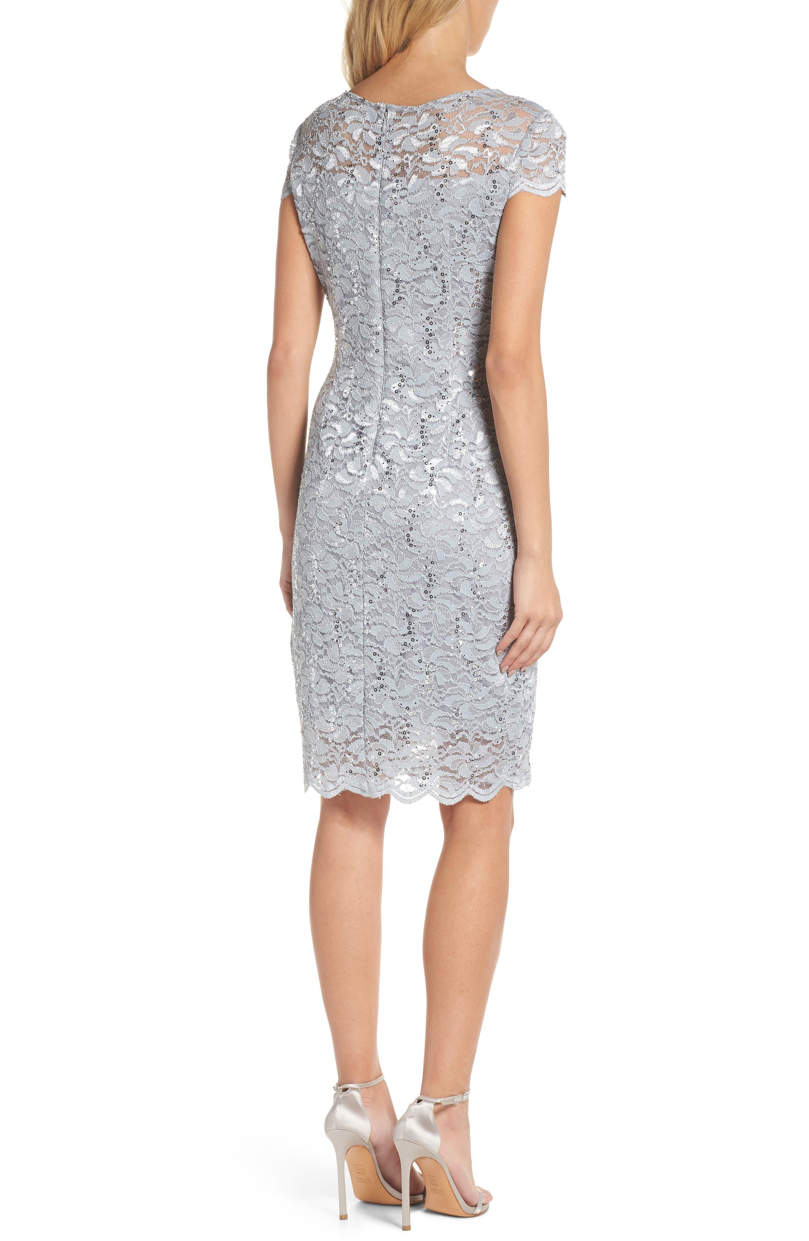 Lace Sheath Dress,                             Alternate thumbnail 2, color,                             050