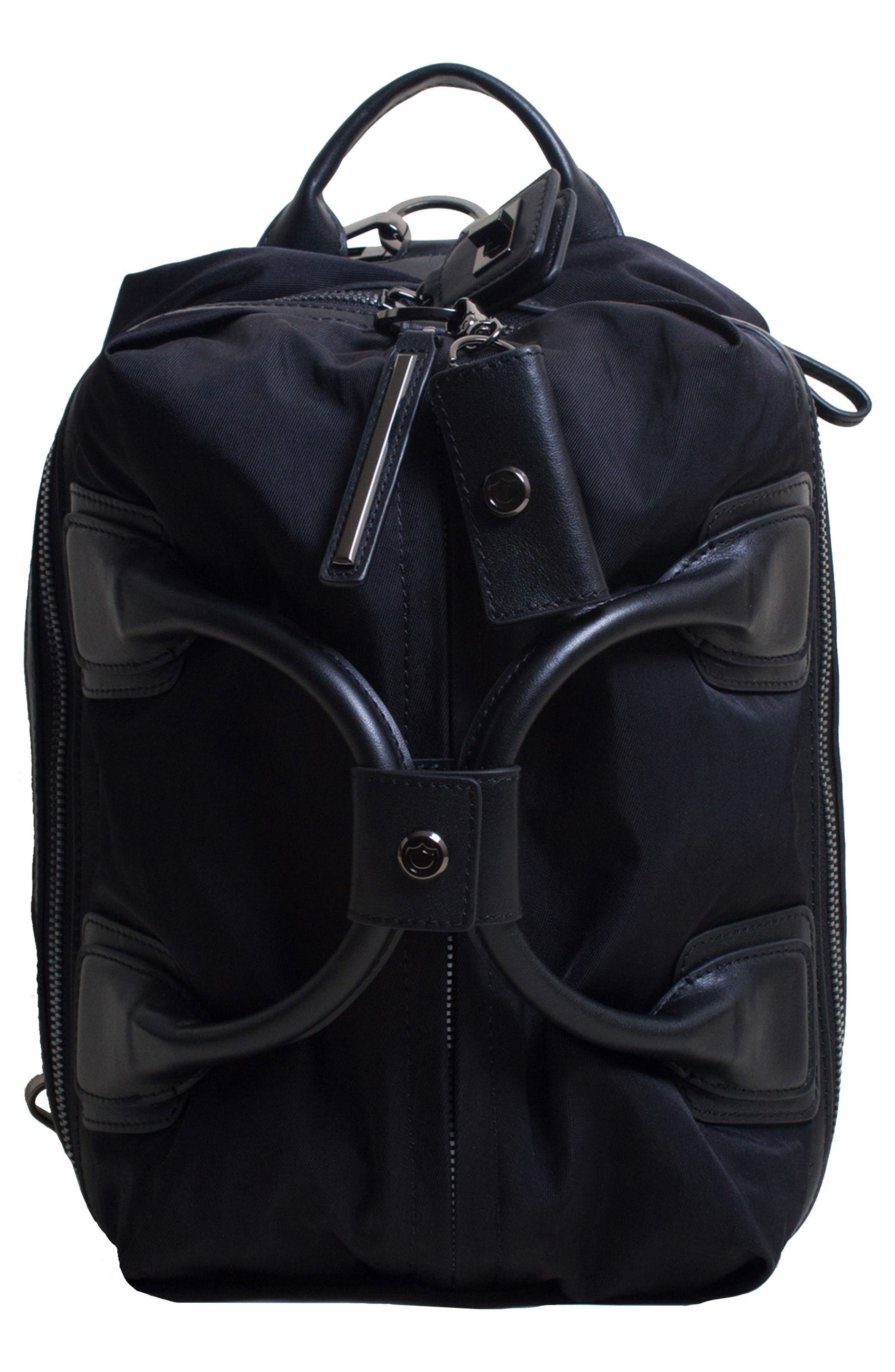 Studio Medium Duffel Backpack,                             Main thumbnail 1, color,                             BLACK