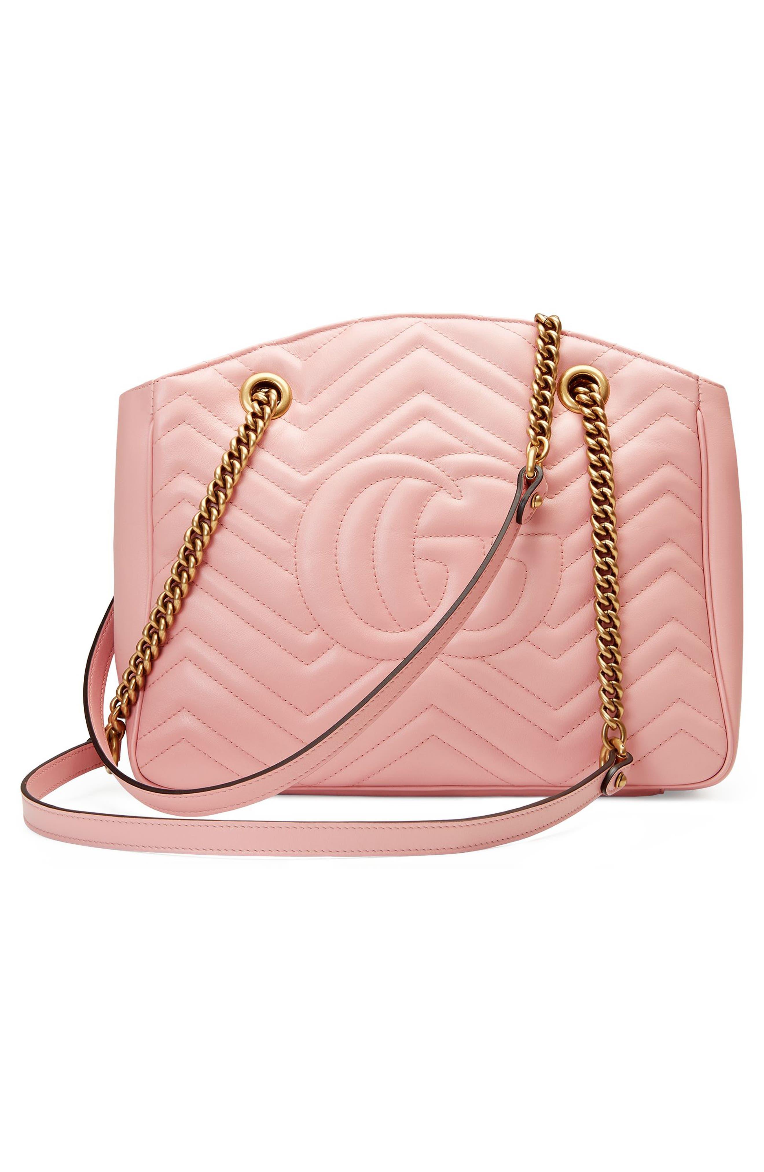 GG Marmont Matelassé Leather Shoulder Bag,                             Alternate thumbnail 4, color,