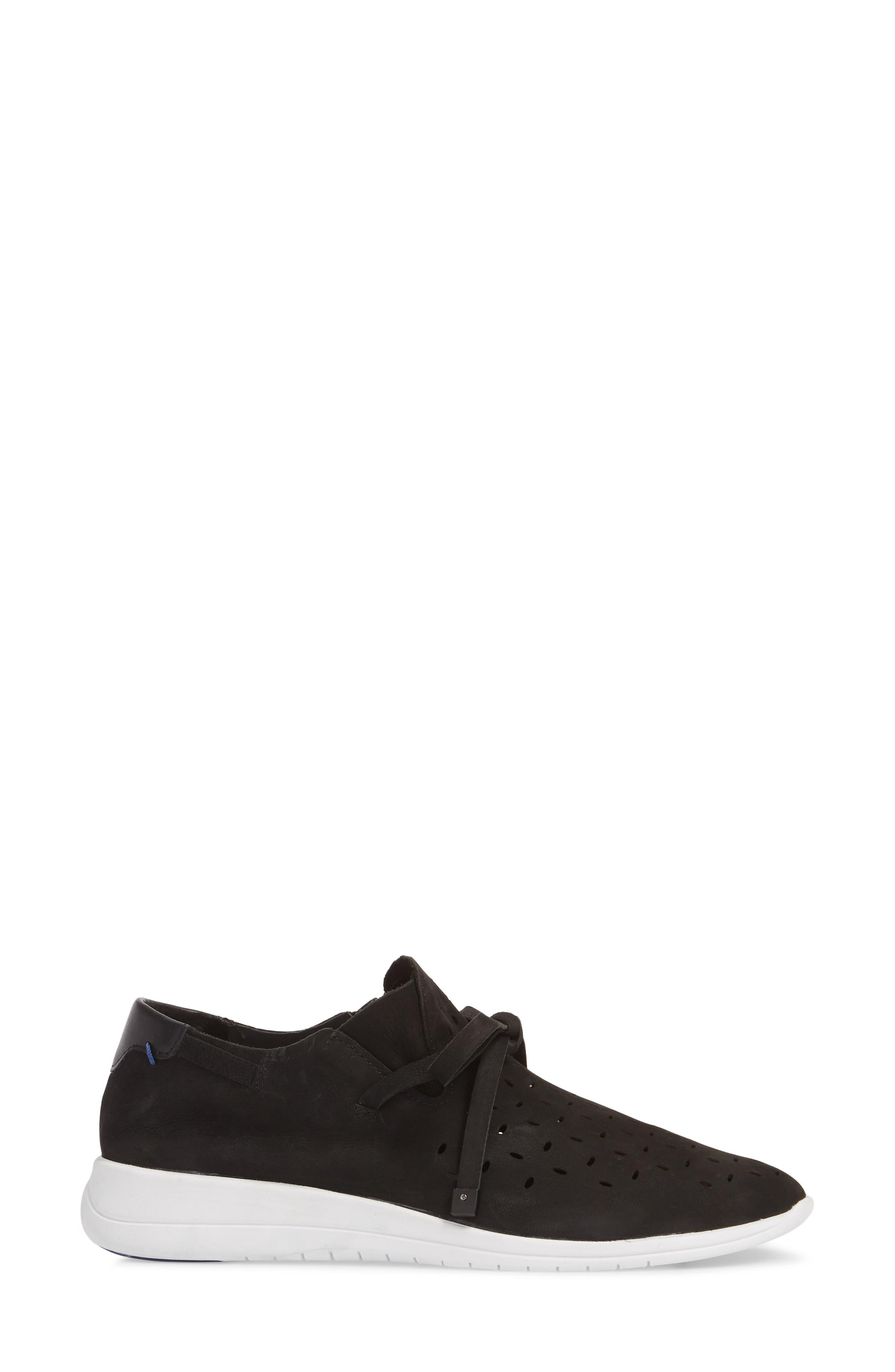 Freeport Sneaker,                             Alternate thumbnail 3, color,                             BLACK NUBUCK