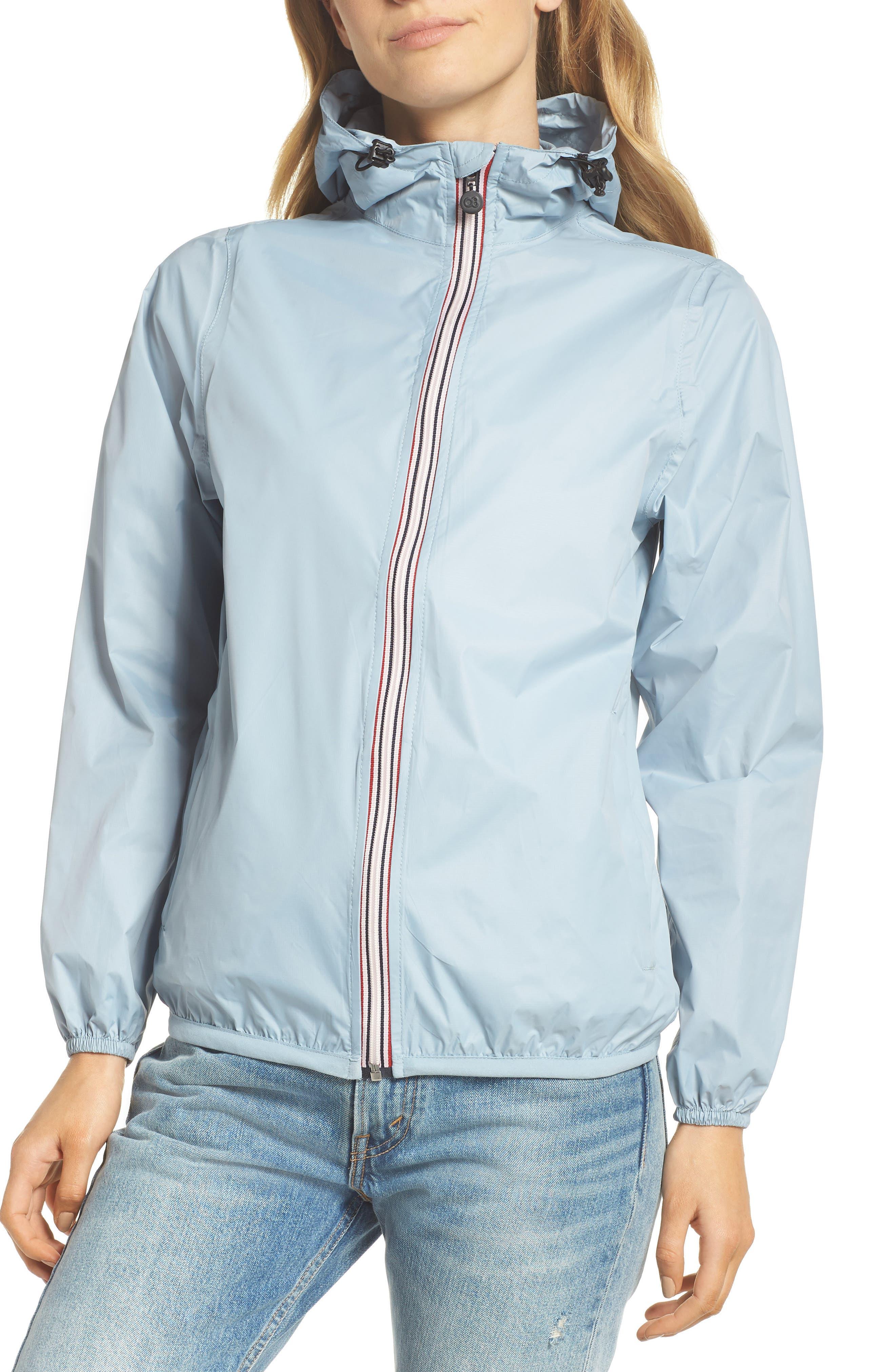 Packable Rain Jacket,                             Alternate thumbnail 4, color,                             CELESTIAL BLUE