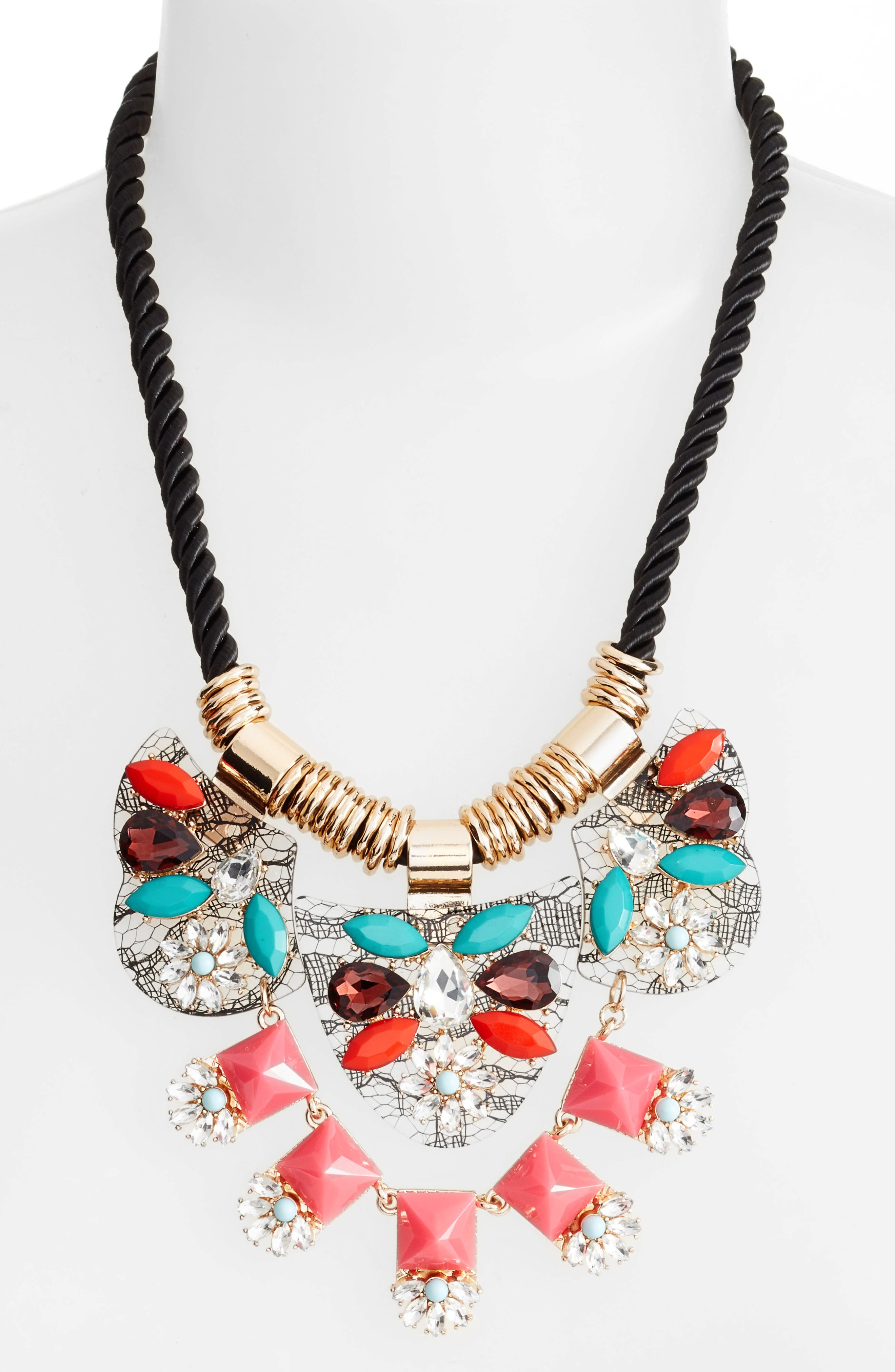 Crystal Rope Necklace,                             Main thumbnail 1, color,                             100