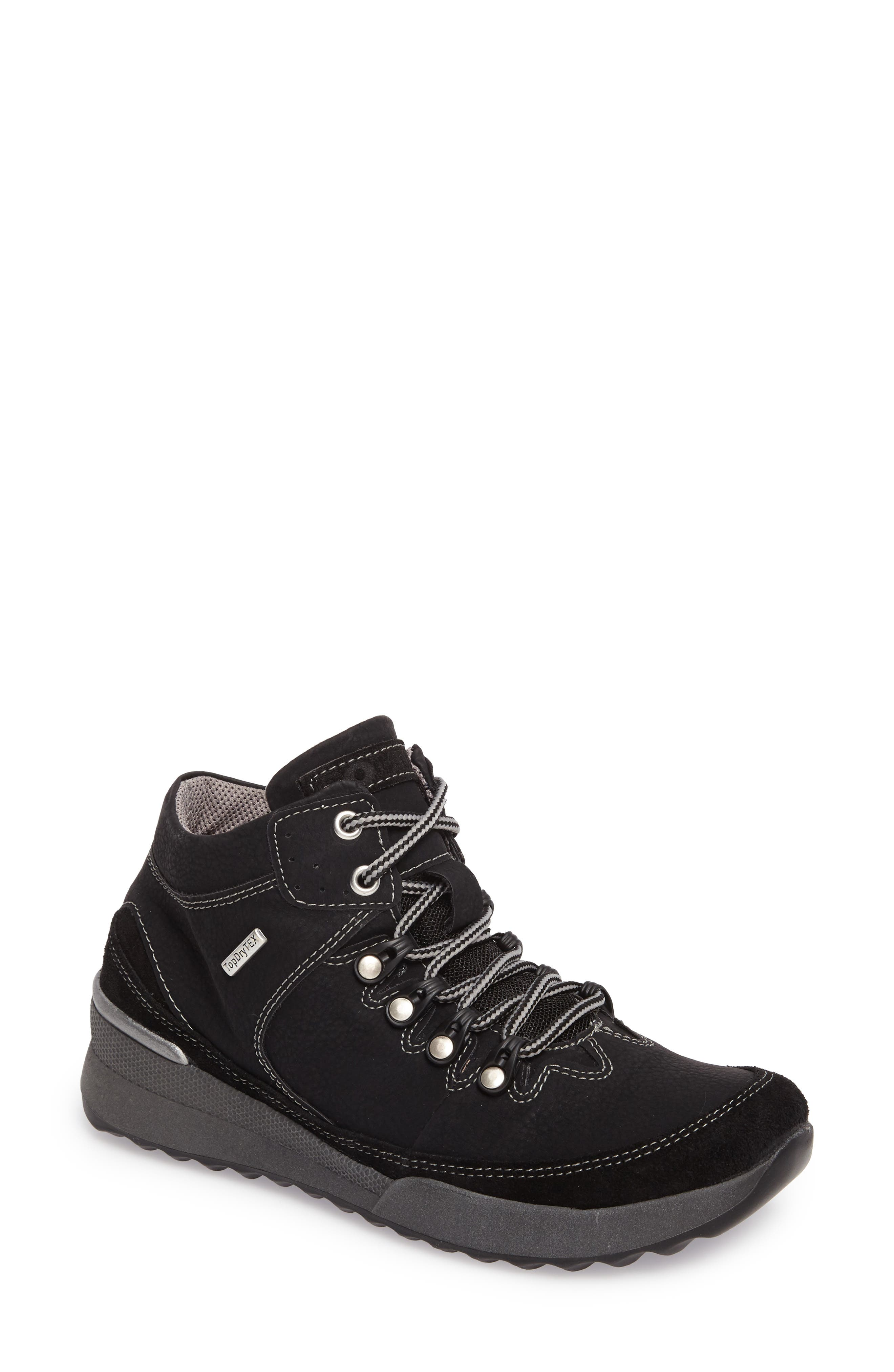 Victoria 05 Waterproof Sneaker,                         Main,                         color, BLACK/ KOMBI LEATHER