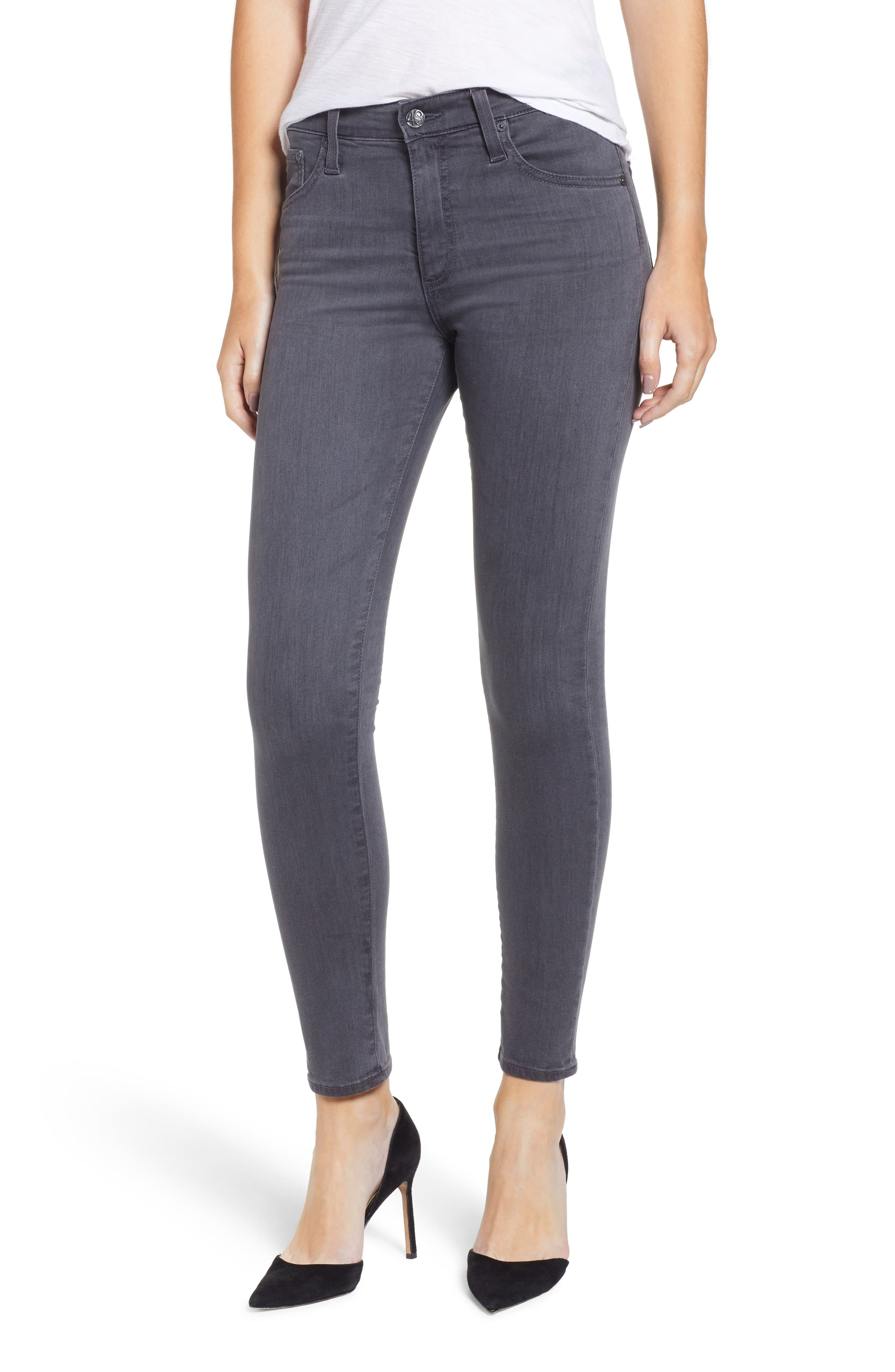 The Farrah High Waist Ankle Skinny Faux Leather Pants,                         Main,                         color, 5YRS AFFLICTION