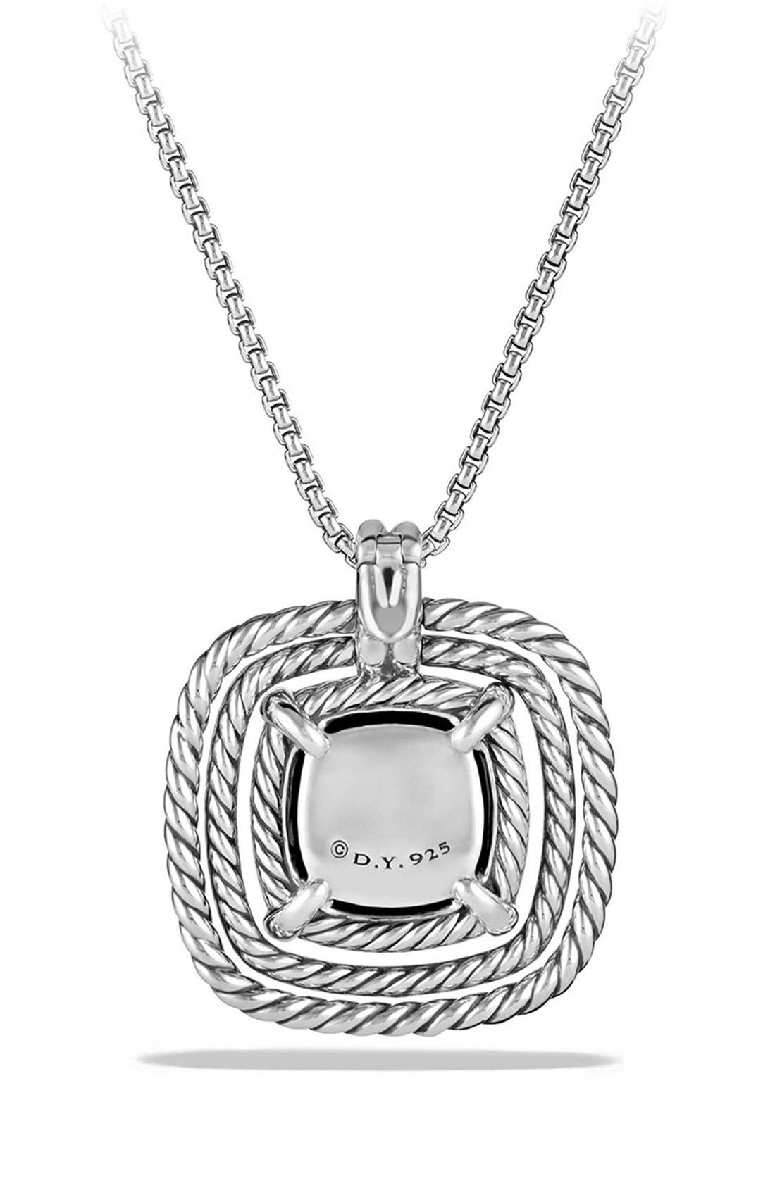 'Châtelaine' Large Pavé Bezel Pendant Necklace with Diamonds,                             Alternate thumbnail 3, color,                             BLACK ONYX