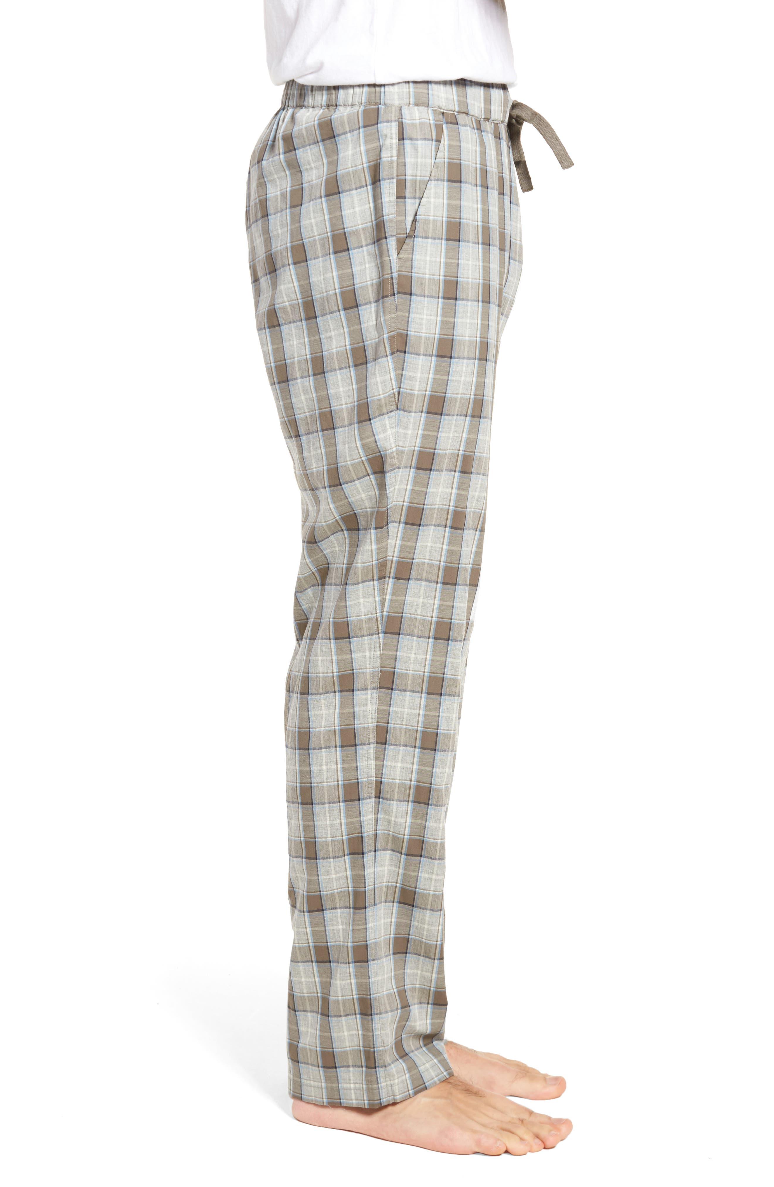 Flynn Plaid Cotton Lounge Pants,                             Alternate thumbnail 5, color,
