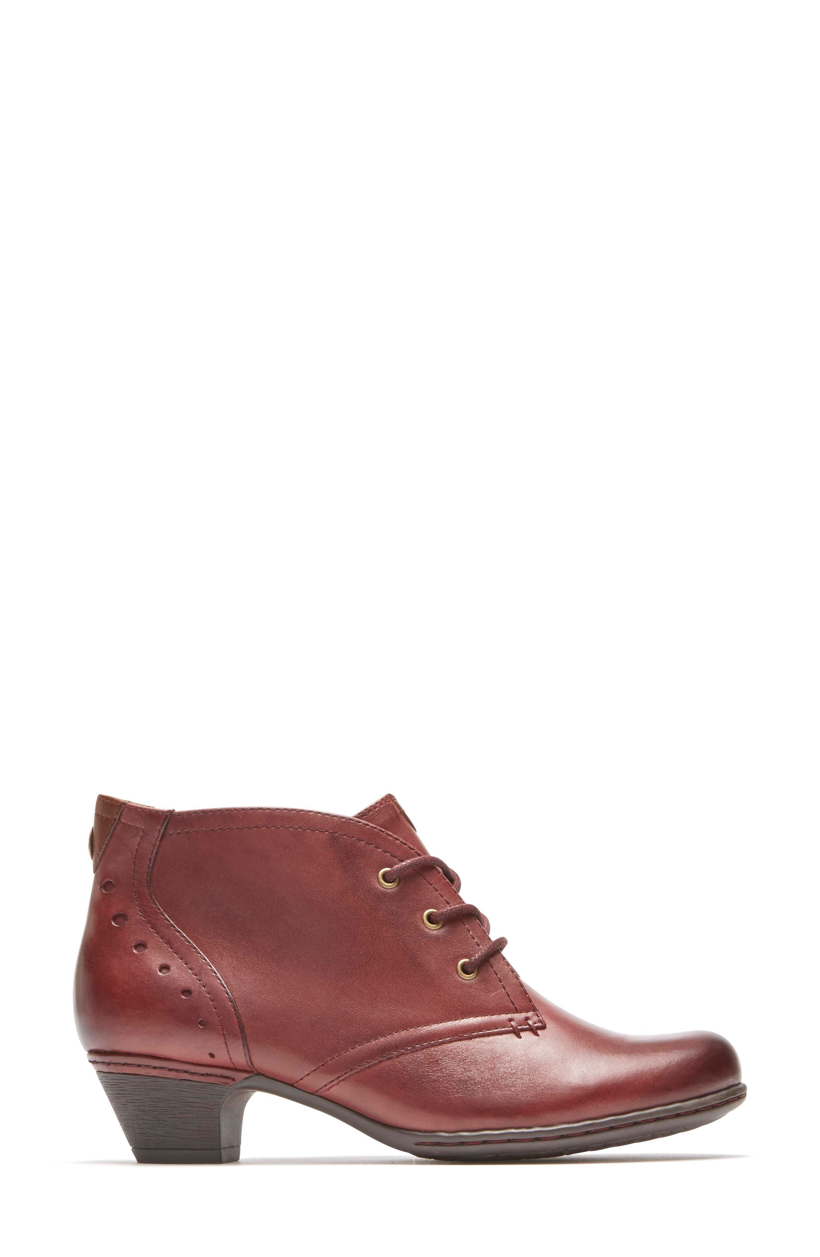 Aria Leather Boot,                             Alternate thumbnail 3, color,                             MERLOT LEATHER