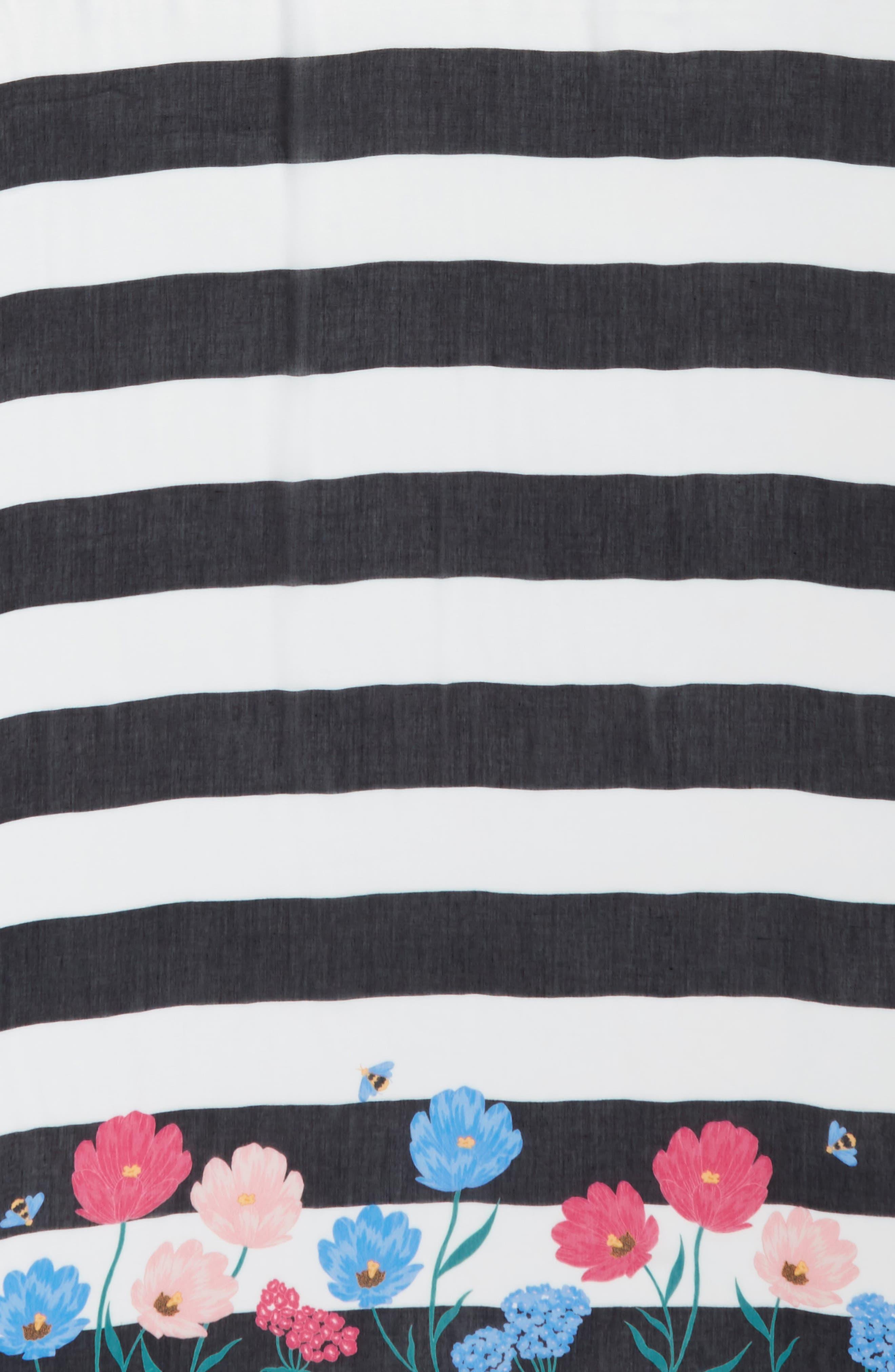 blossom stripe scarf,                             Alternate thumbnail 4, color,                             001