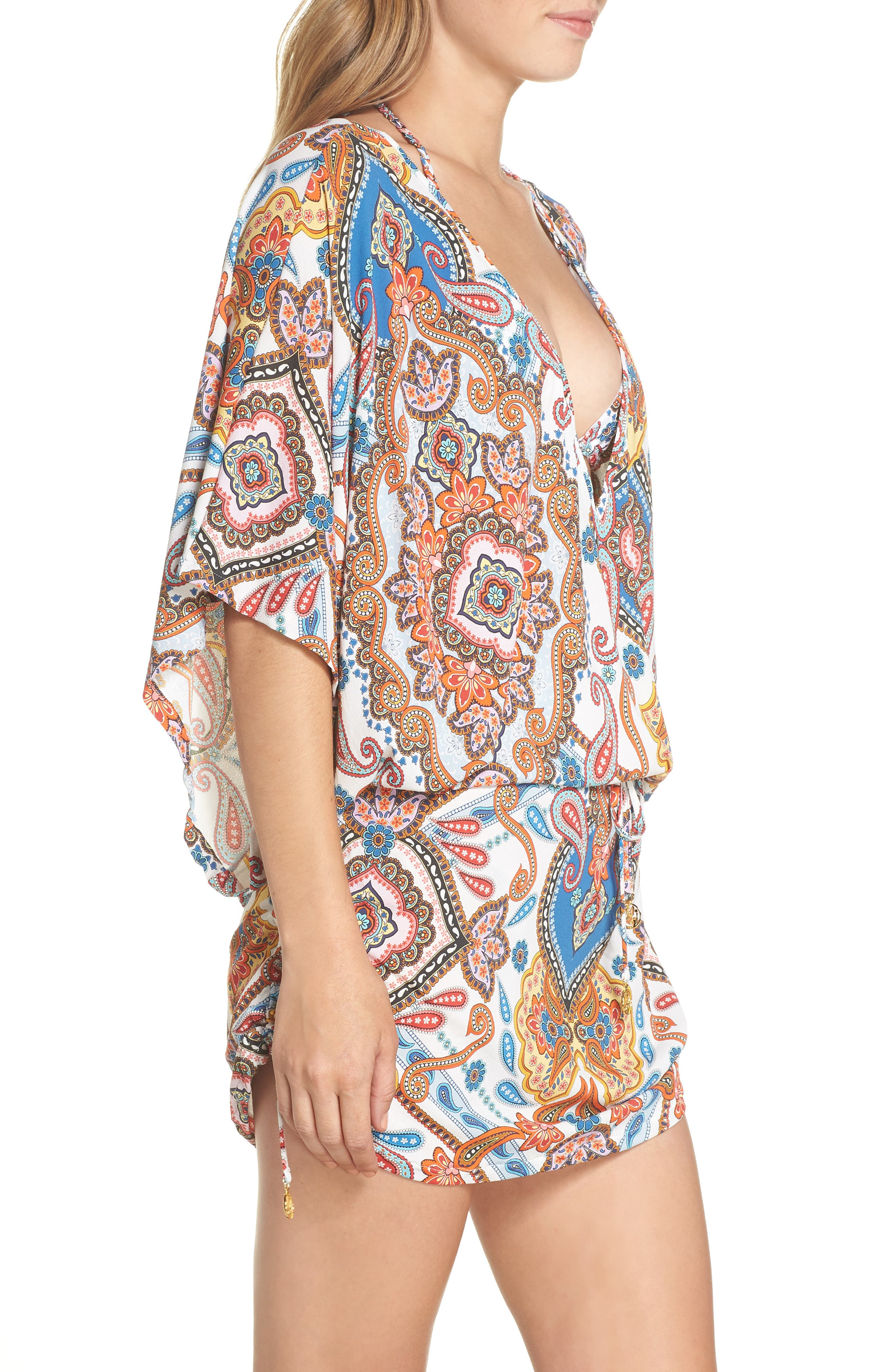 Cabana Cover-Up Dress,                             Alternate thumbnail 3, color,                             WHITE