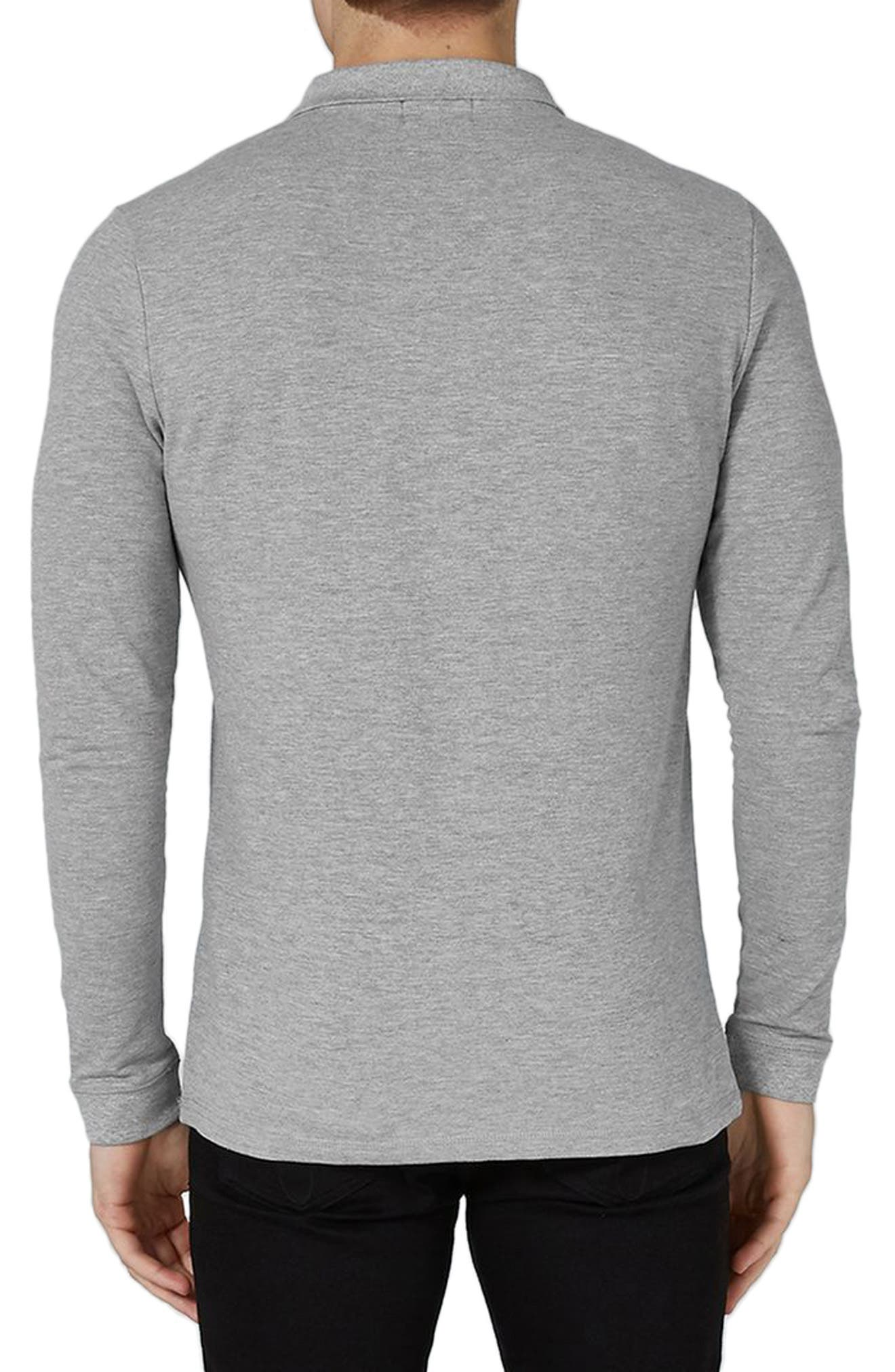 Leon Muscle Fit Long Sleeve Polo,                             Alternate thumbnail 2, color,                             050