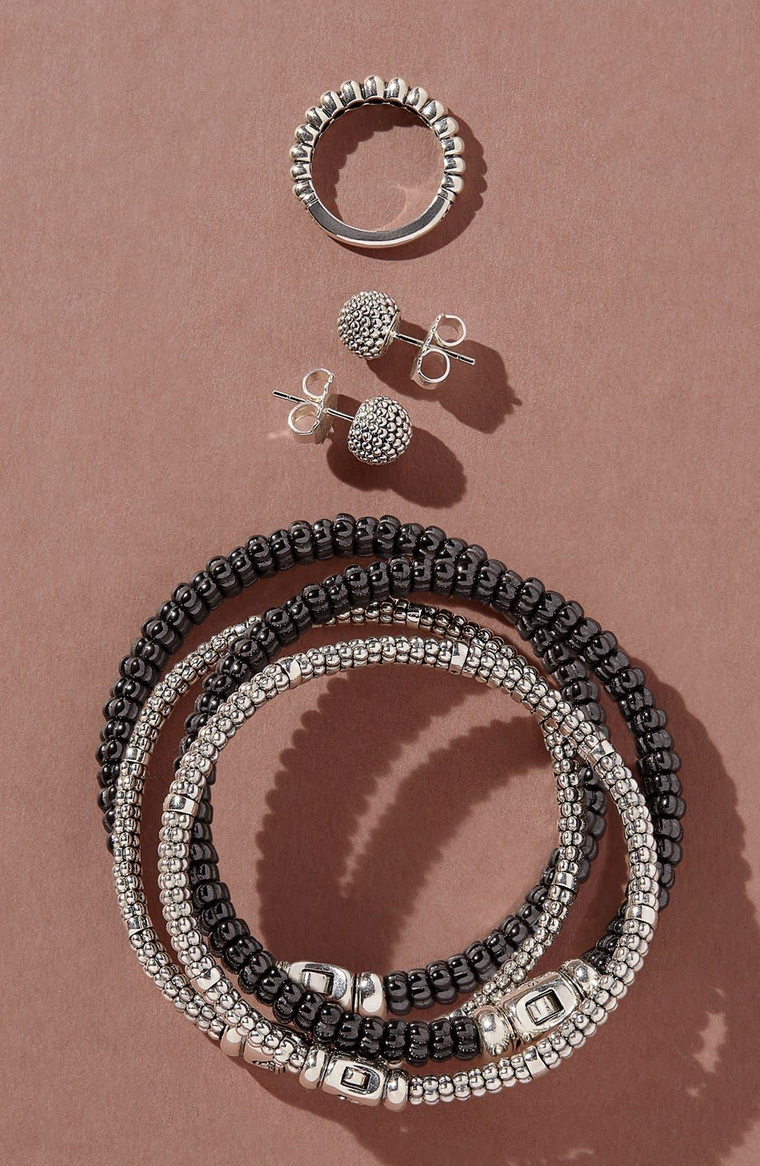 Black Caviar Bracelet,                             Alternate thumbnail 9, color,                             BLACK CAVIAR