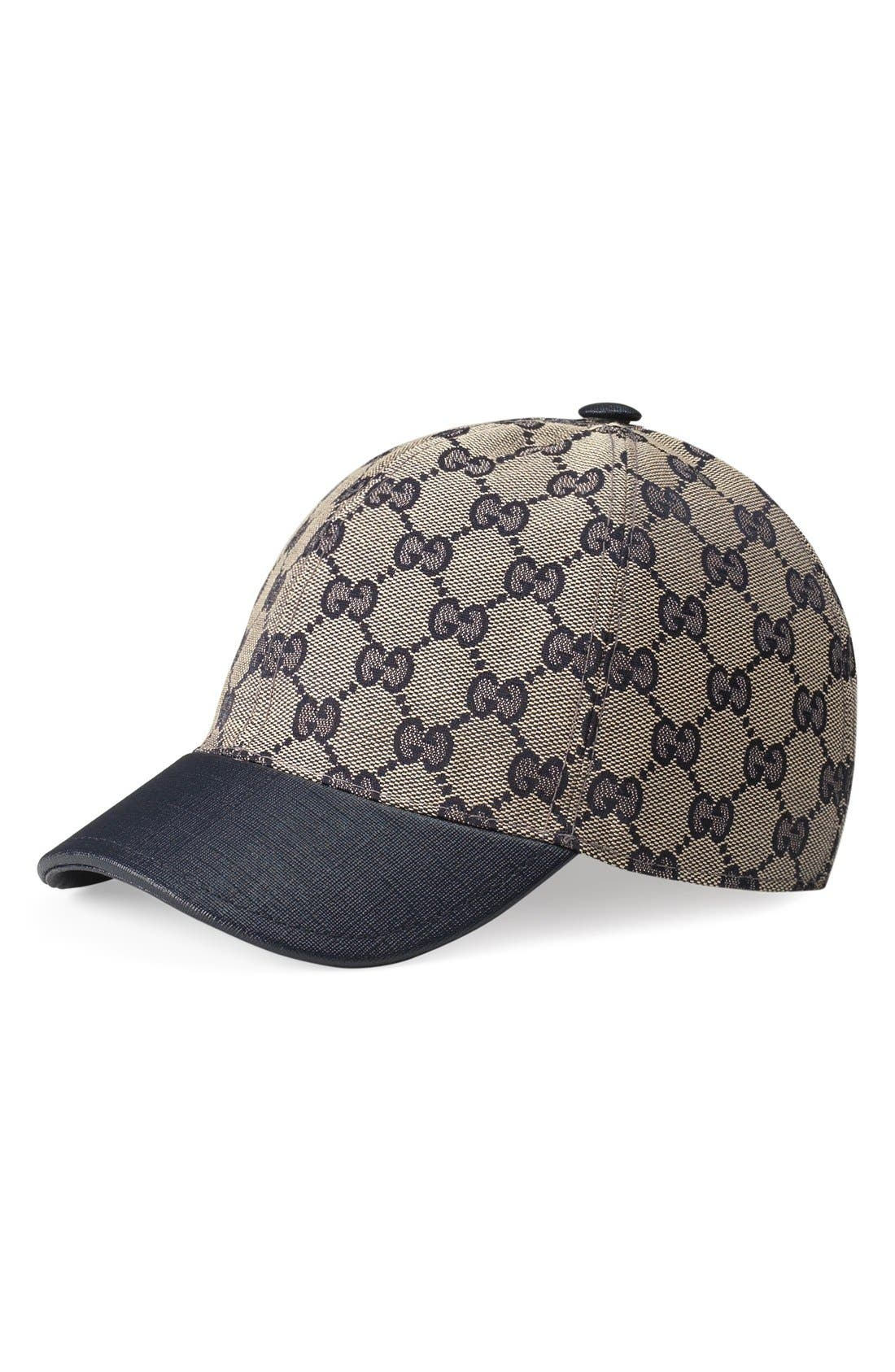 'Junior' Check Hat,                             Main thumbnail 1, color,                             BEIGE/ BLUE