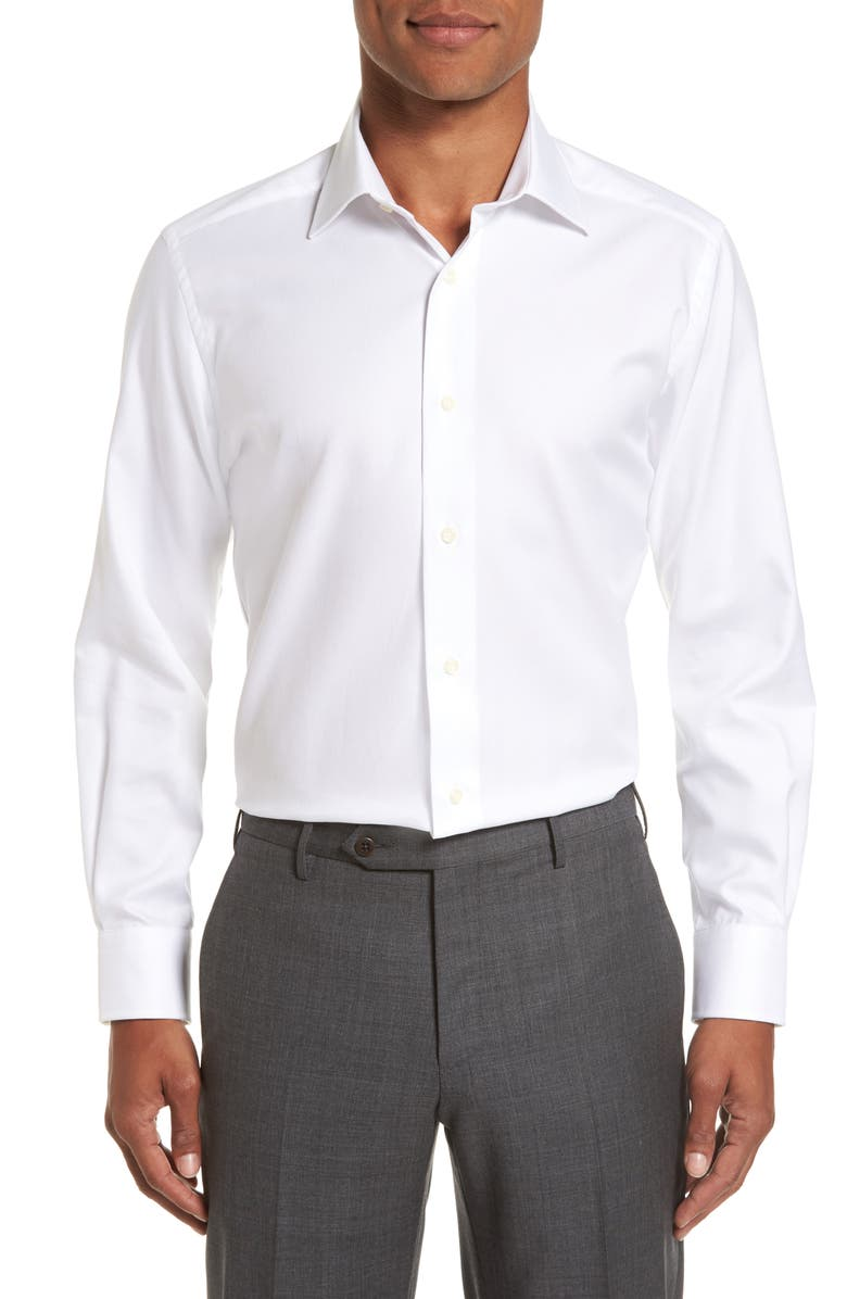 David Donahue Trim Fit Dress Shirt Nordstrom