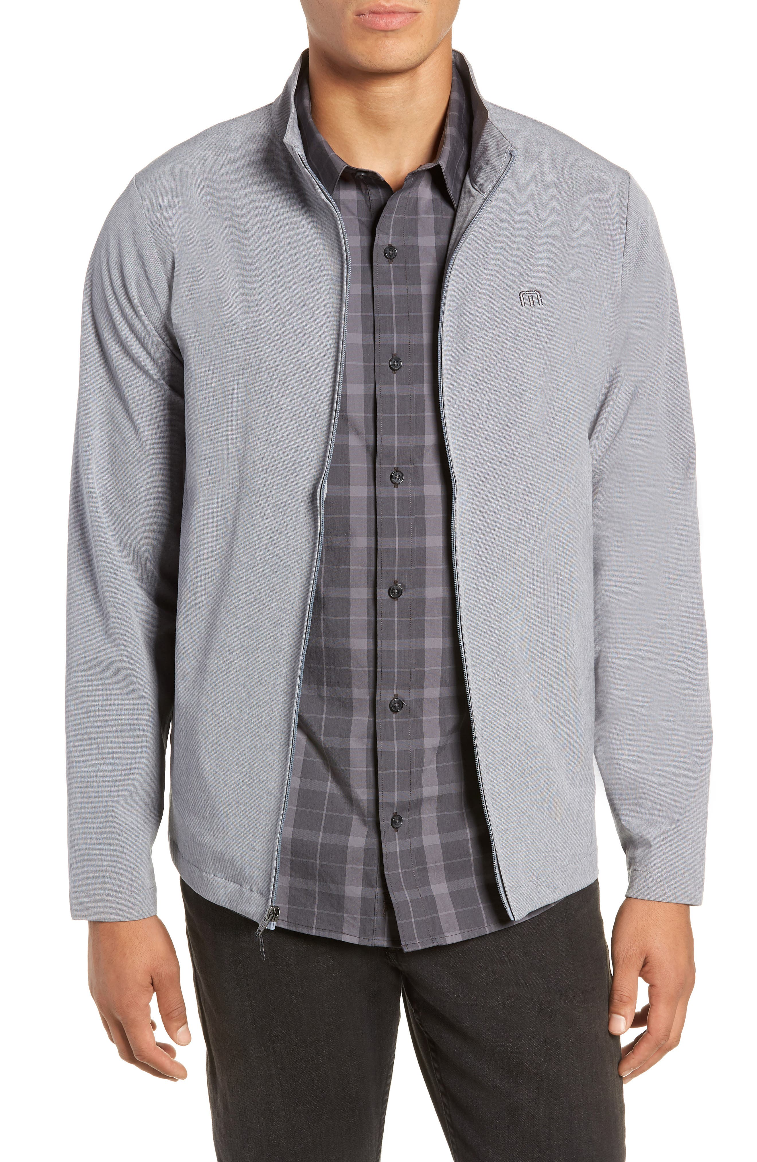 Scorpio Jacket,                         Main,                         color, HEATHER GREY BECK/ BLUE MESH