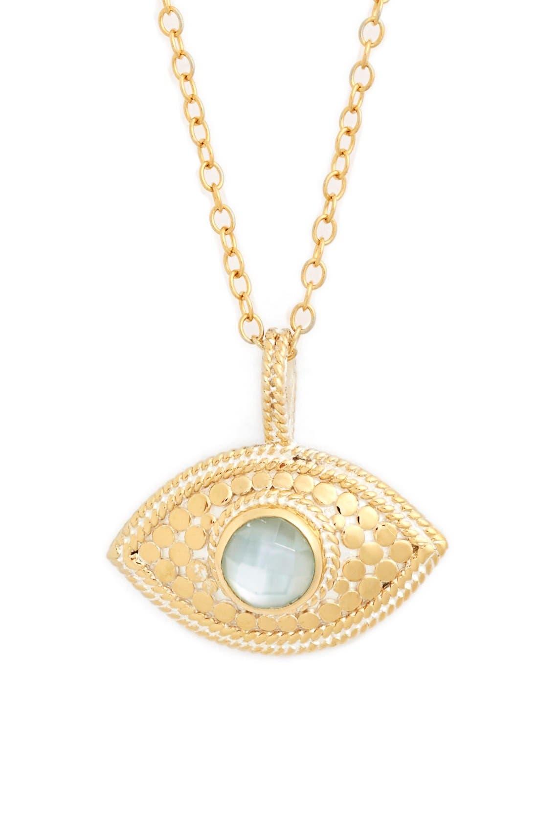 'Evil Eye' Pendant Necklace, Main, color, 710