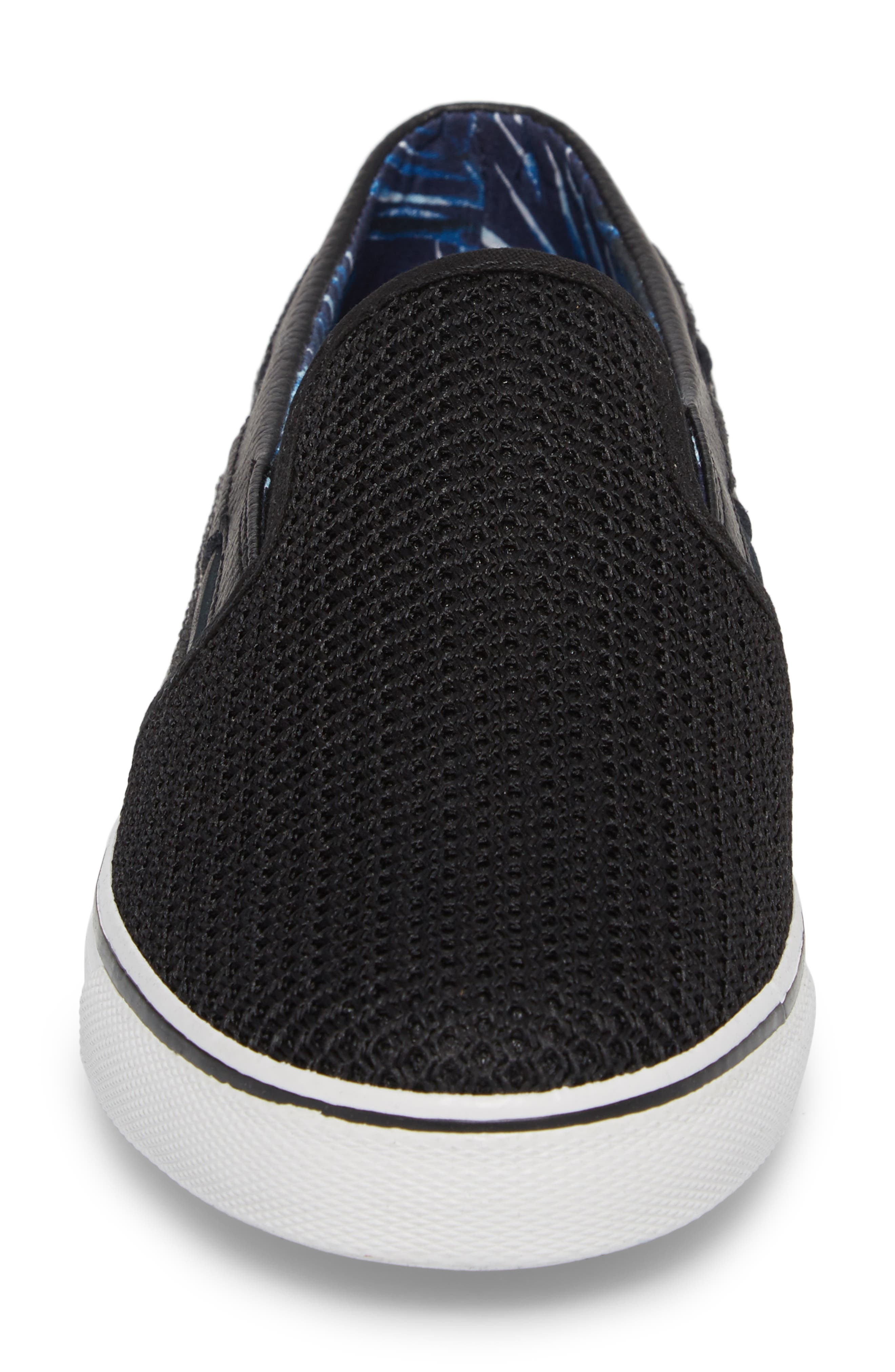 Exodus Mesh Slip-On Sneaker,                             Alternate thumbnail 4, color,                             BLACK MESH/ TEXTILE