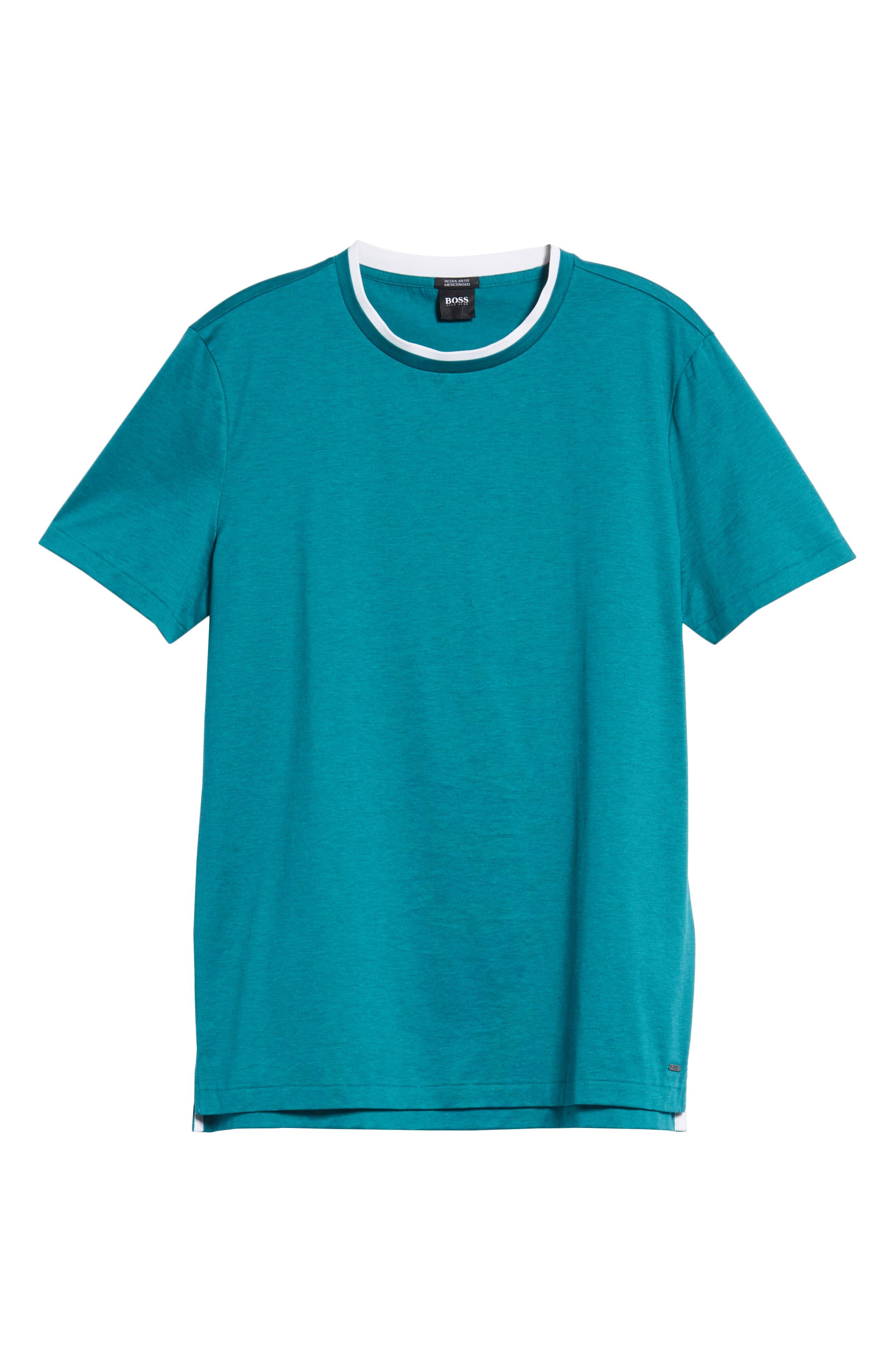 Taber Regular Fit T-Shirt,                             Alternate thumbnail 6, color,                             GREEN