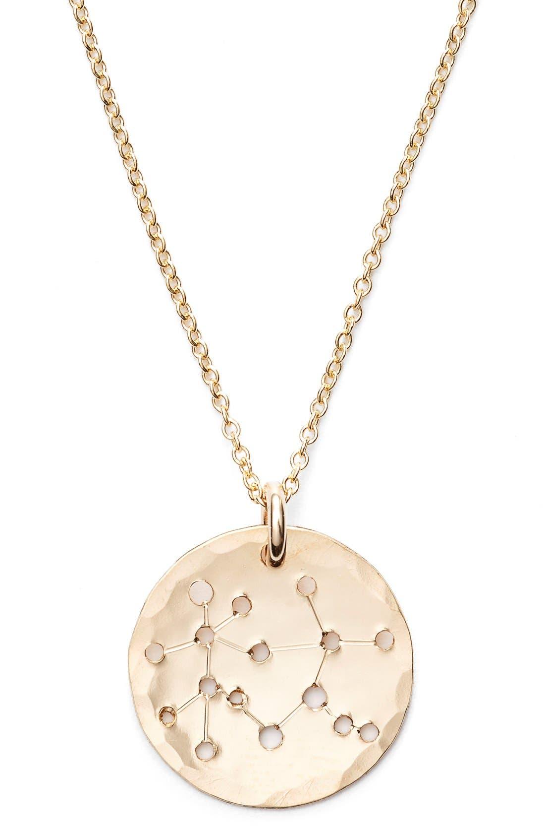 Ija 'Small Zodiac' 14k-Gold Fill Necklace,                             Alternate thumbnail 15, color,