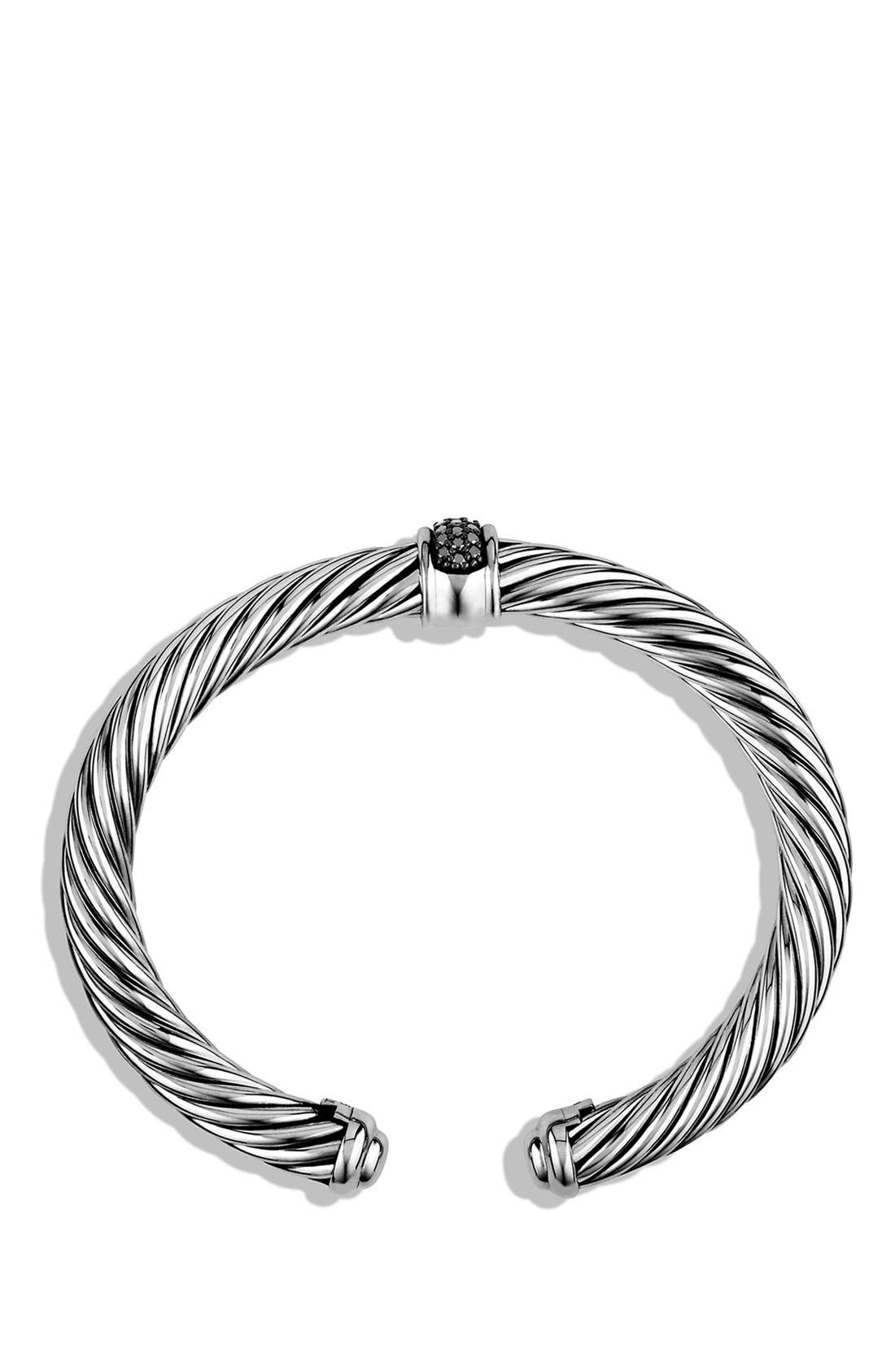 Cable Classics Bracelet with Black Diamonds, 7m,                             Alternate thumbnail 4, color,                             BLACK DIAMOND