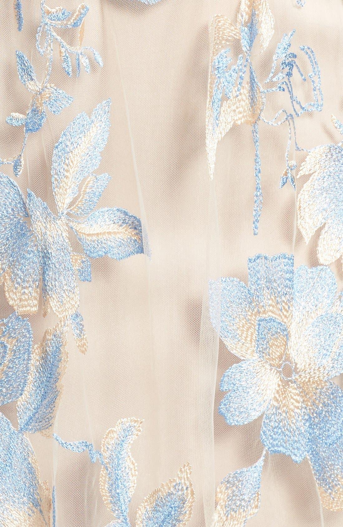 Illusion Lace Gown,                             Alternate thumbnail 9, color,                             298