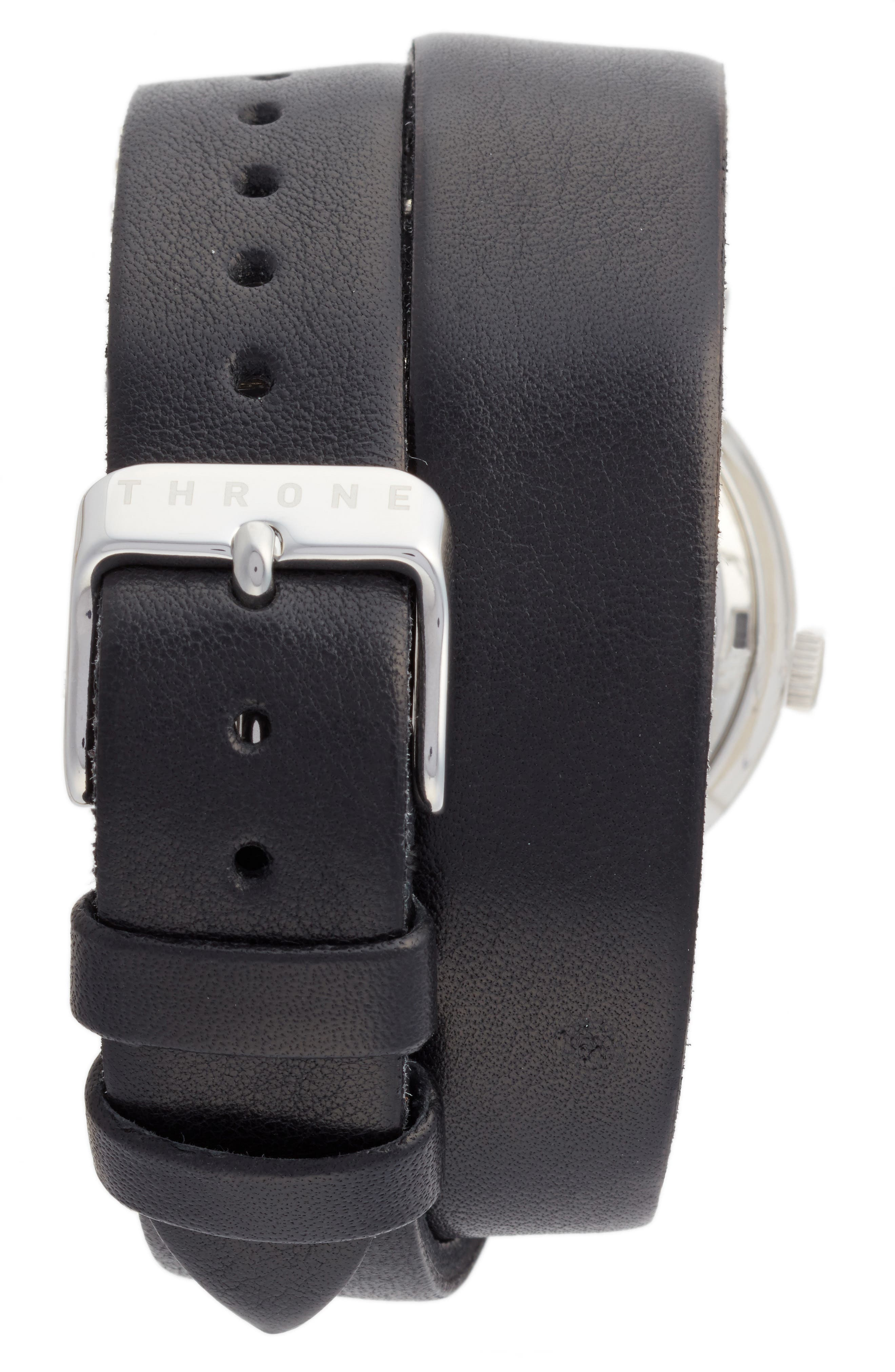 1.0 Leather Wrap Strap Watch, 36mm,                             Alternate thumbnail 3, color,