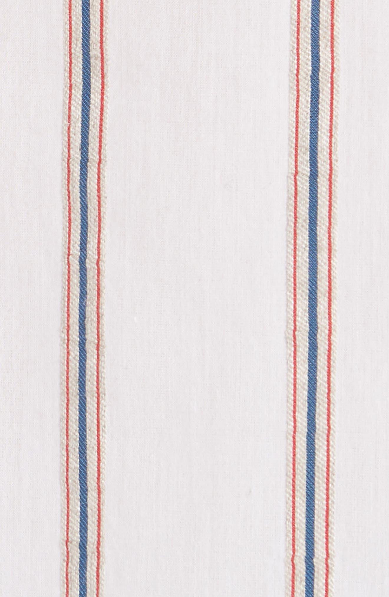 VINCE,                             Textured Stripe Blouse,                             Alternate thumbnail 5, color,                             137