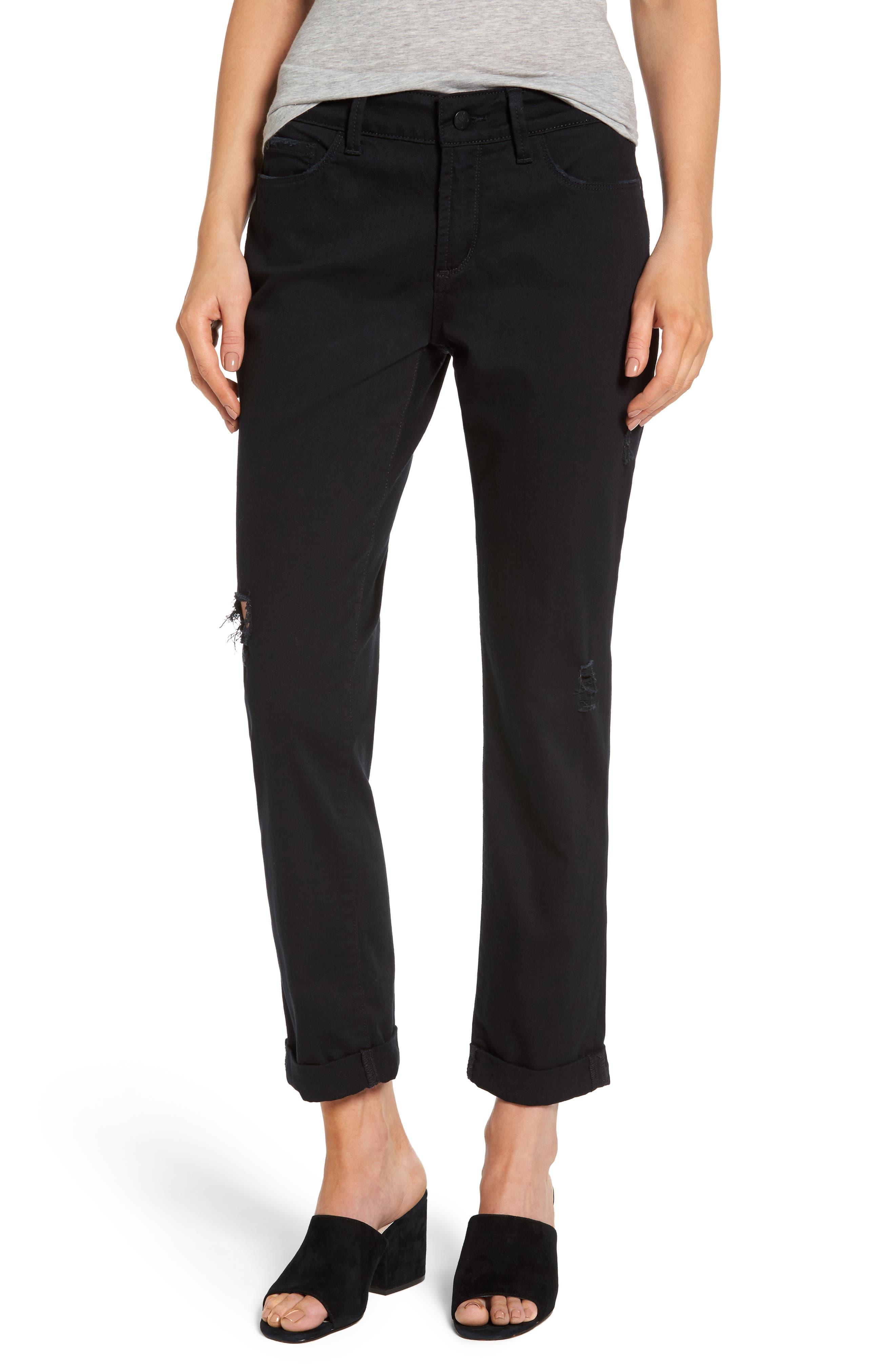 Jessica Destructed Stretch Boyfriend Jeans,                         Main,                         color, 001