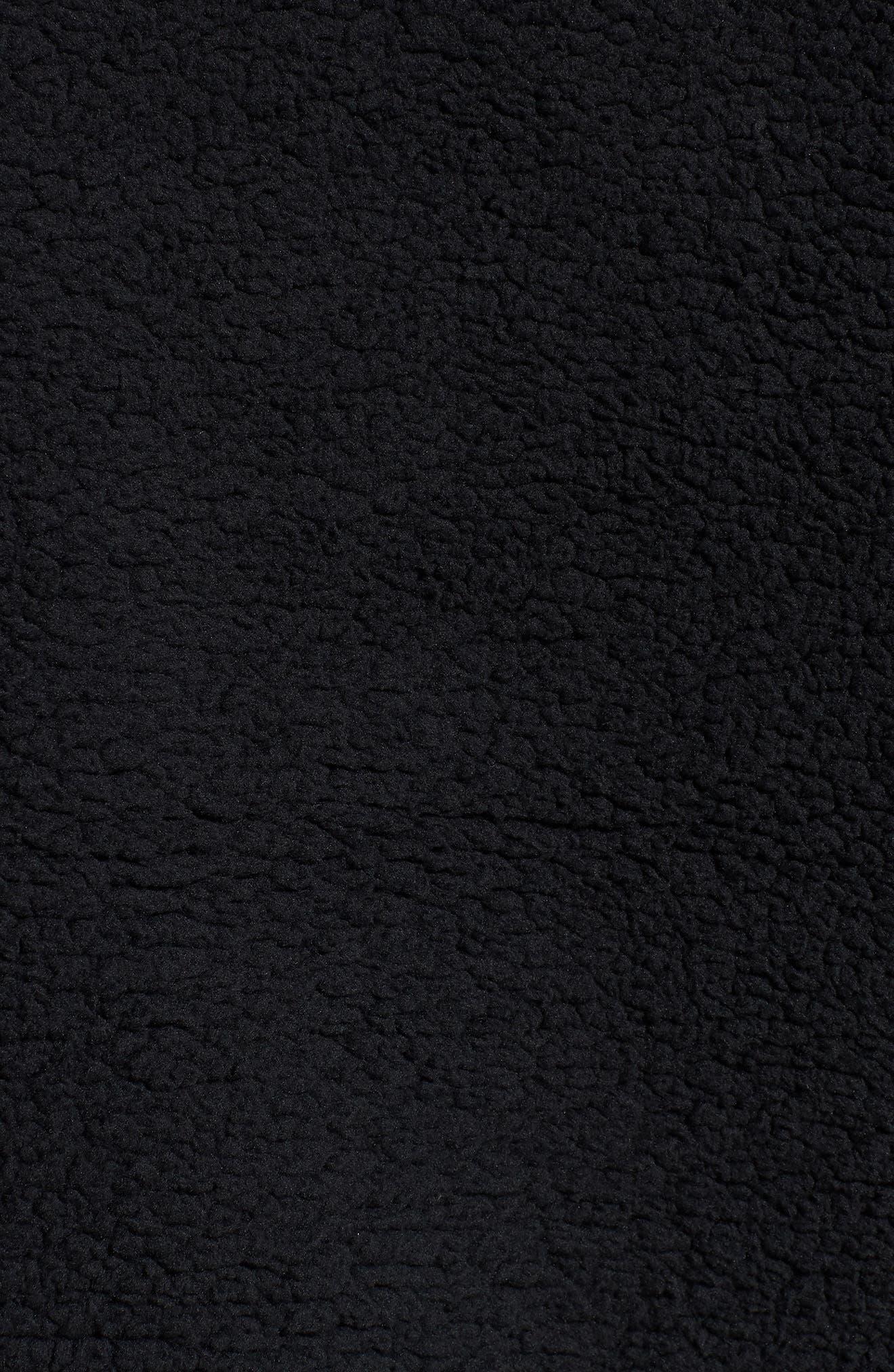 Downtown Fleece Half Zip Hoodie,                             Alternate thumbnail 5, color,                             PUMA BLACK